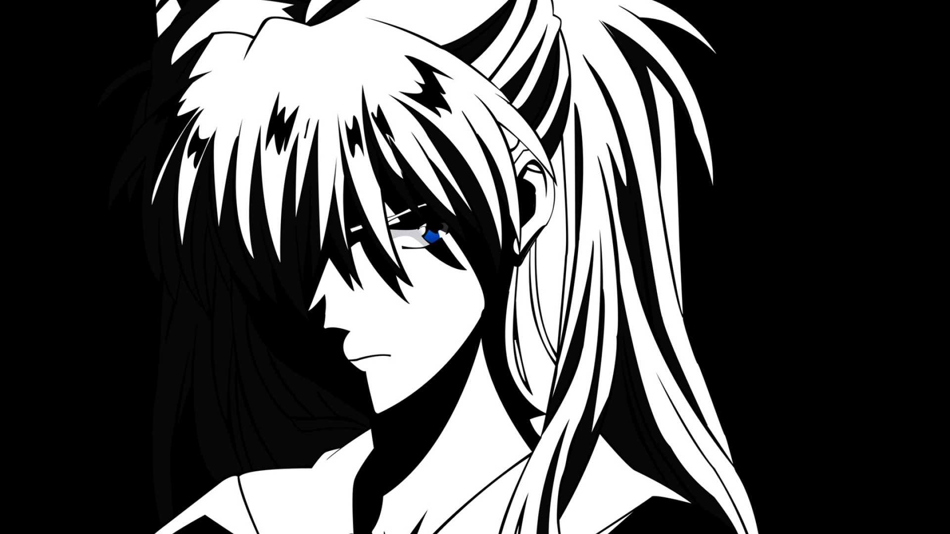 Anime Black And White Image