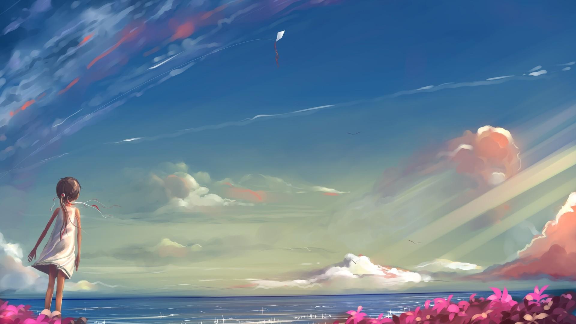 Anime Clouds PC Wallpaper HD