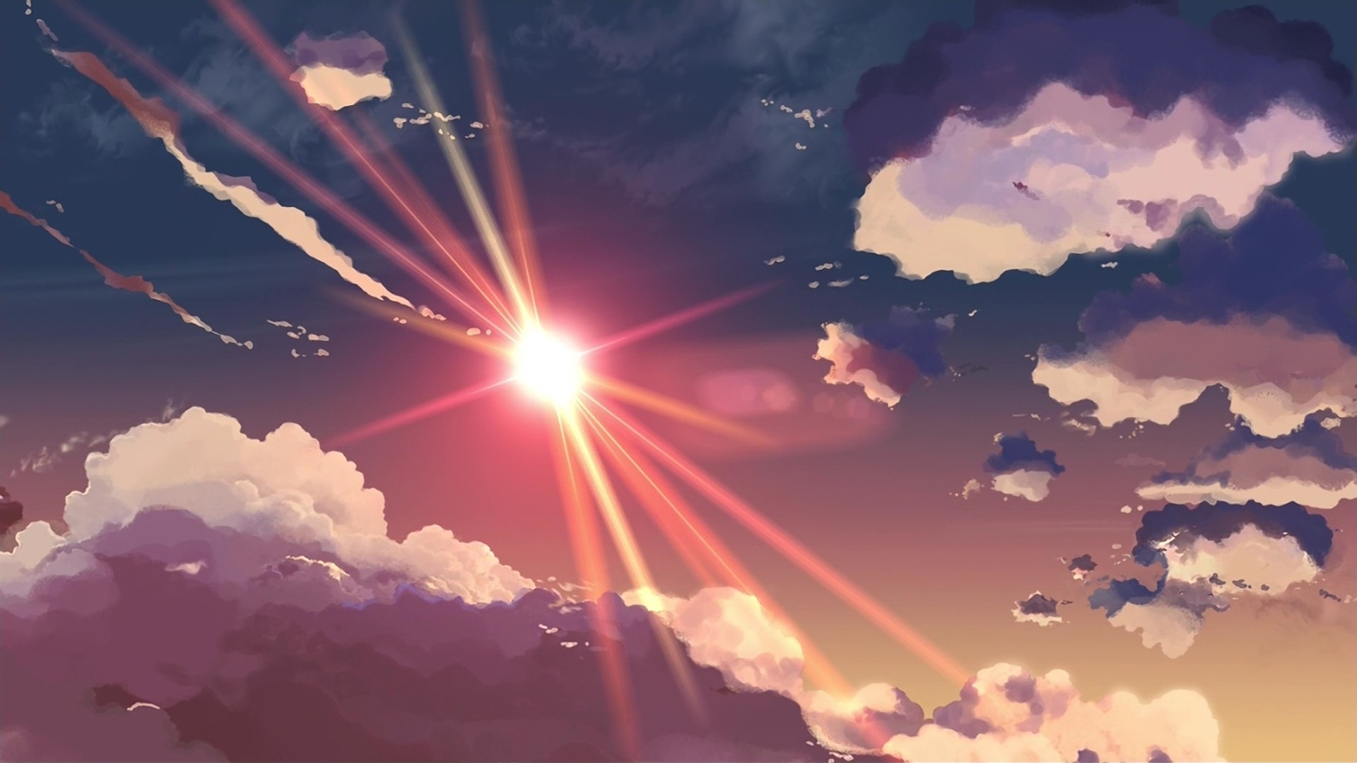Anime Clouds Wallpaper image hd