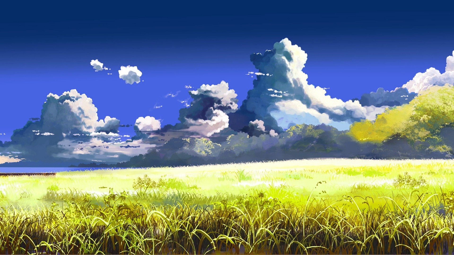 Anime Clouds Free Wallpaper
