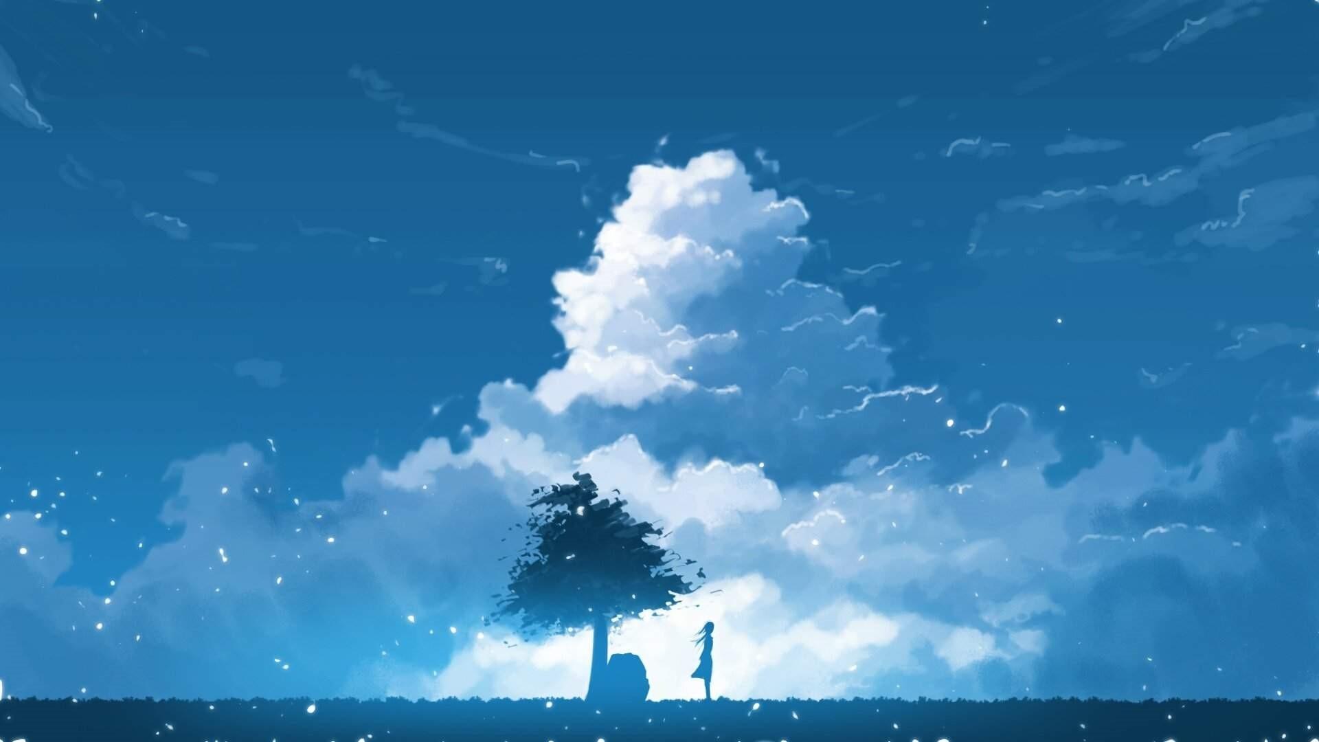 Anime Clouds HD Wallpaper