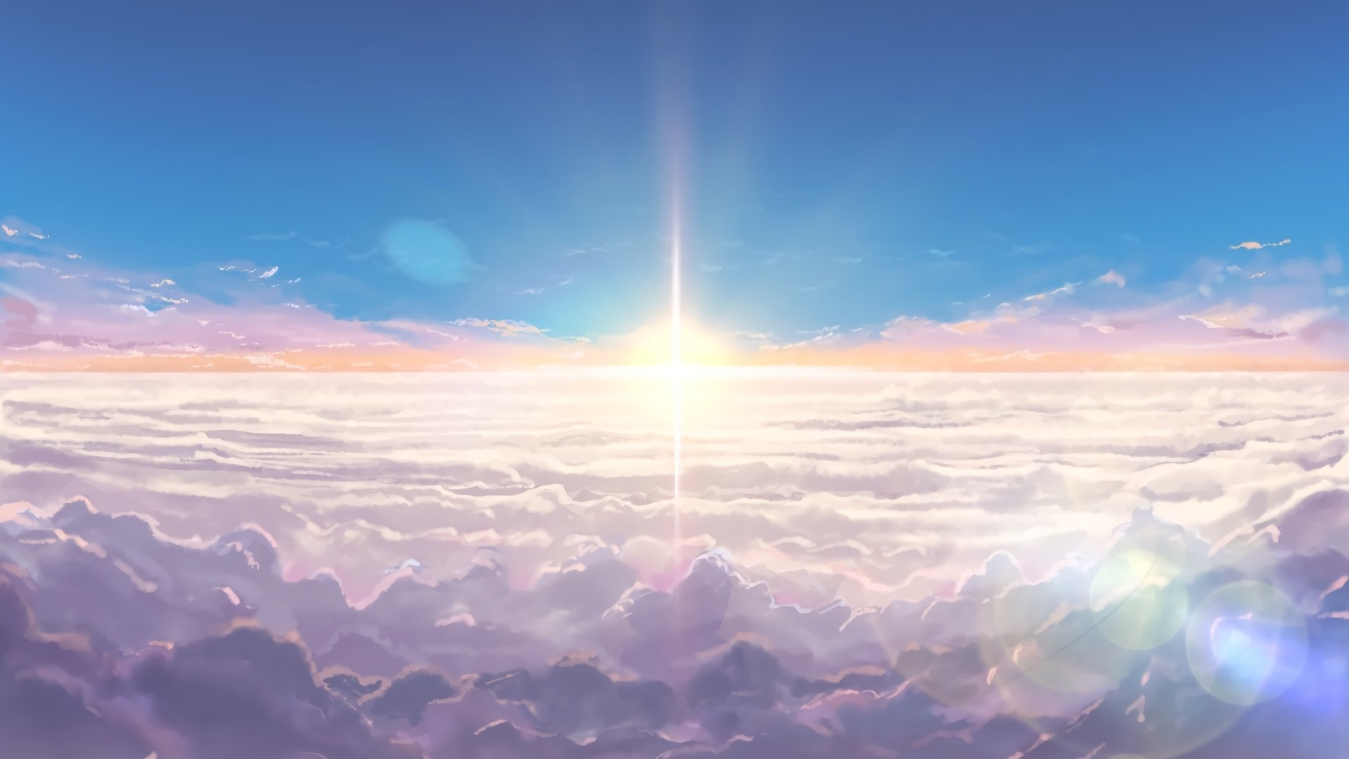 Anime Clouds computer wallpaper