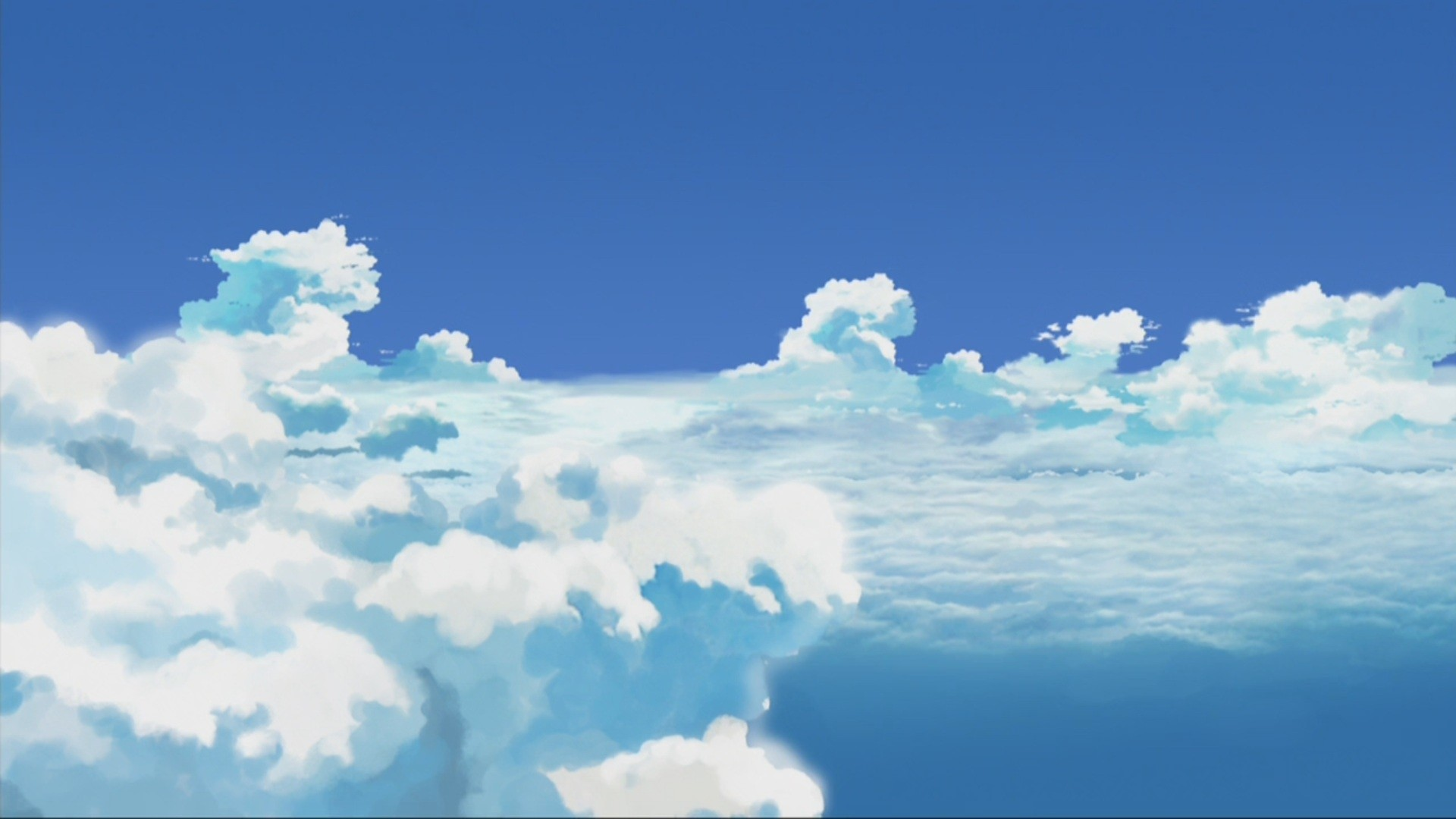 Anime Clouds a wallpaper