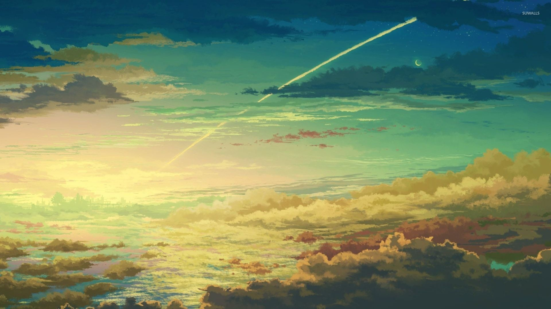 Anime Clouds Wallpaper for pc