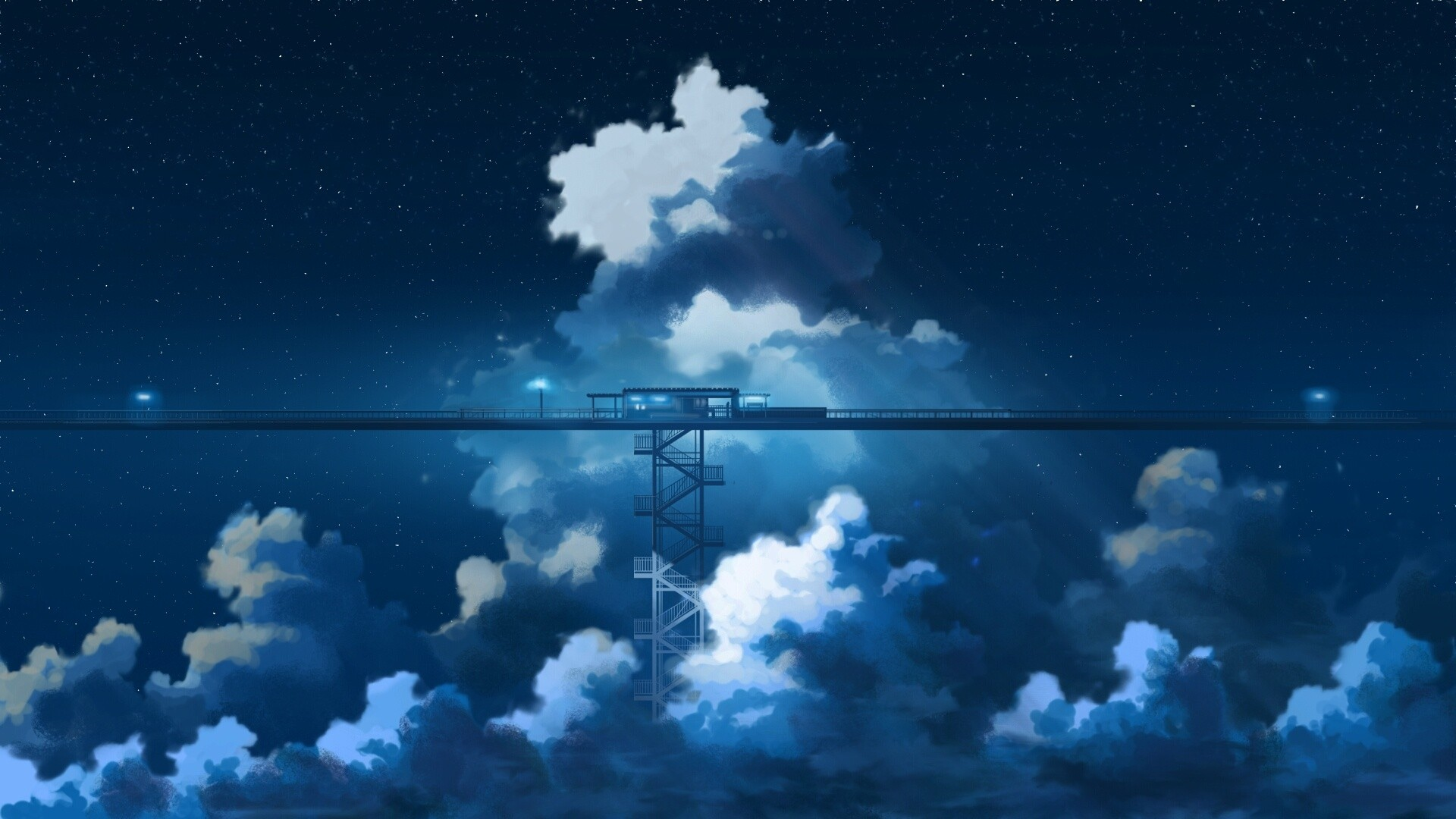 Anime Clouds Image