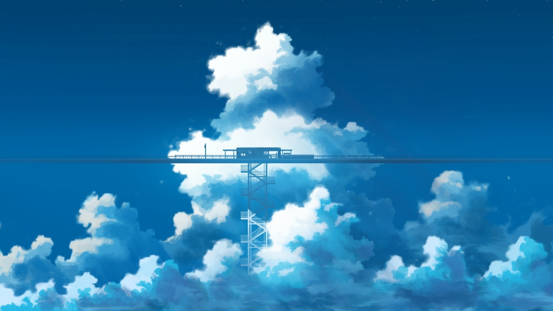 Anime Clouds PC Wallpaper