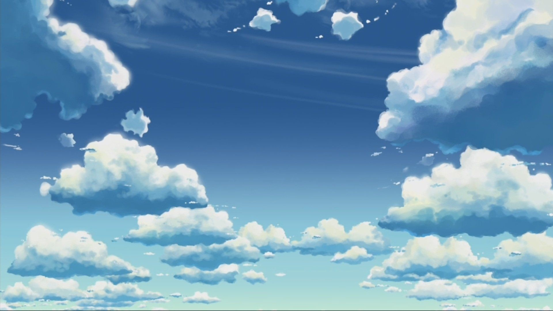 Anime Clouds Wallpaper and Background