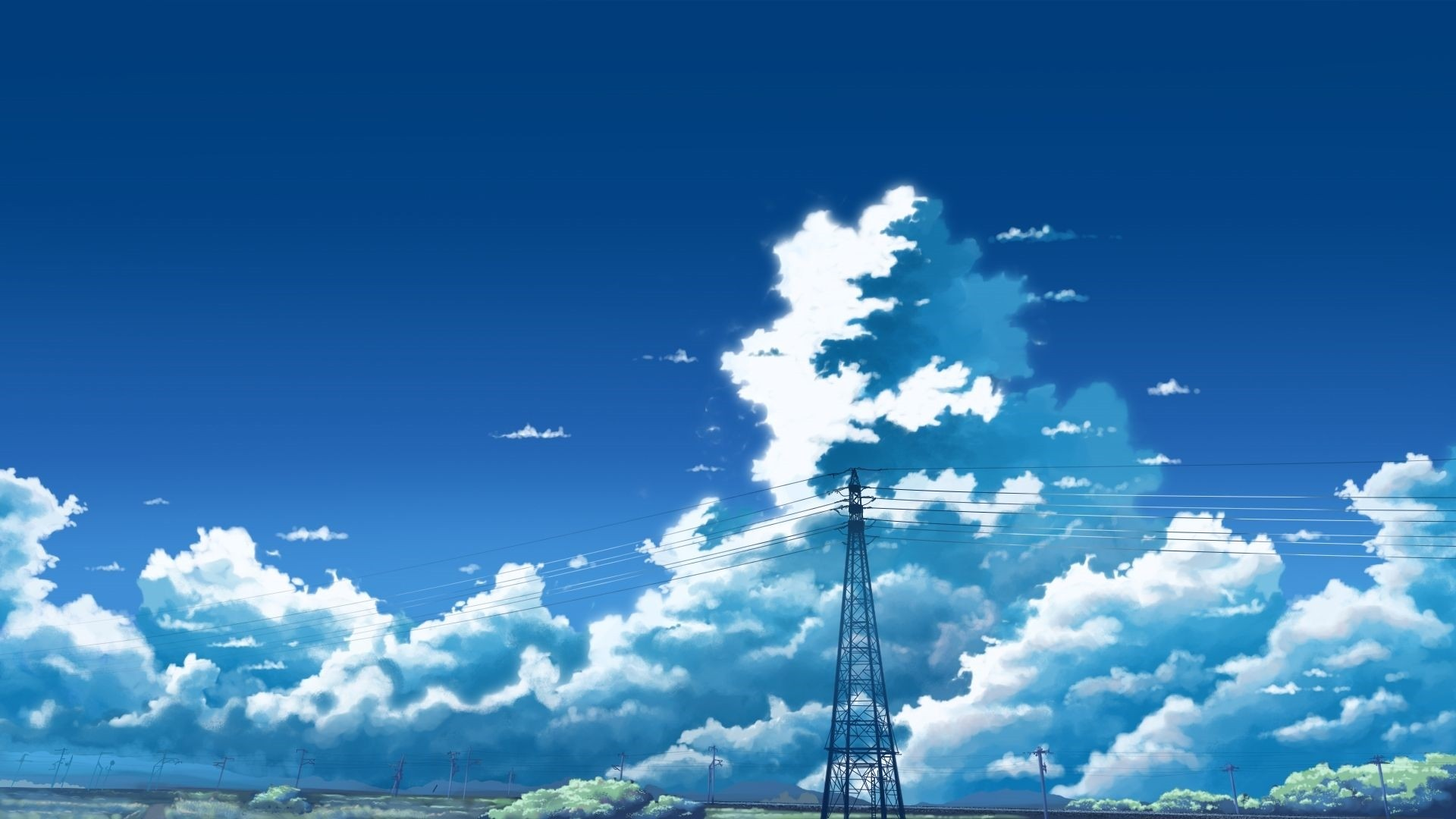 Anime Clouds Download Wallpaper