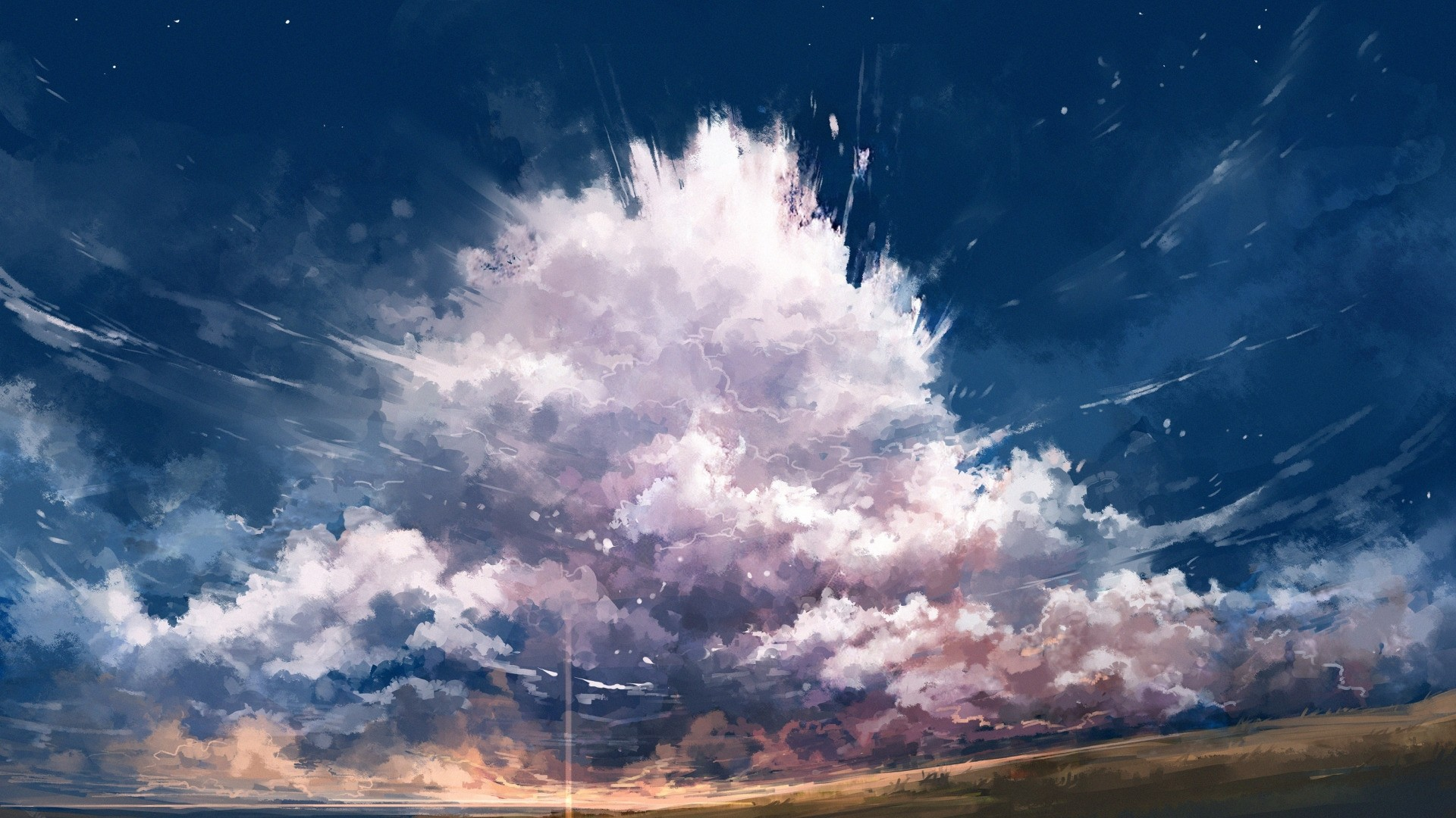 Anime Clouds Pic