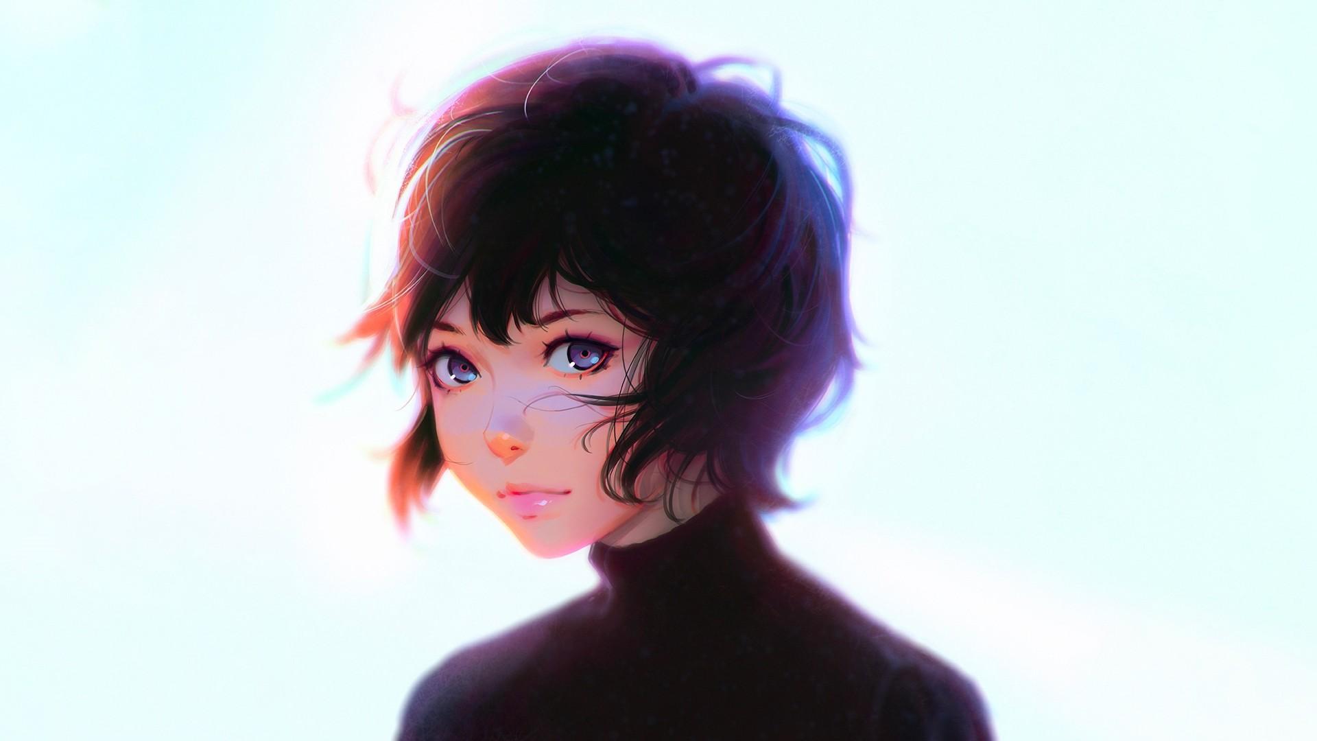 Anime Girl Short Hair Wallpaper Picture hd