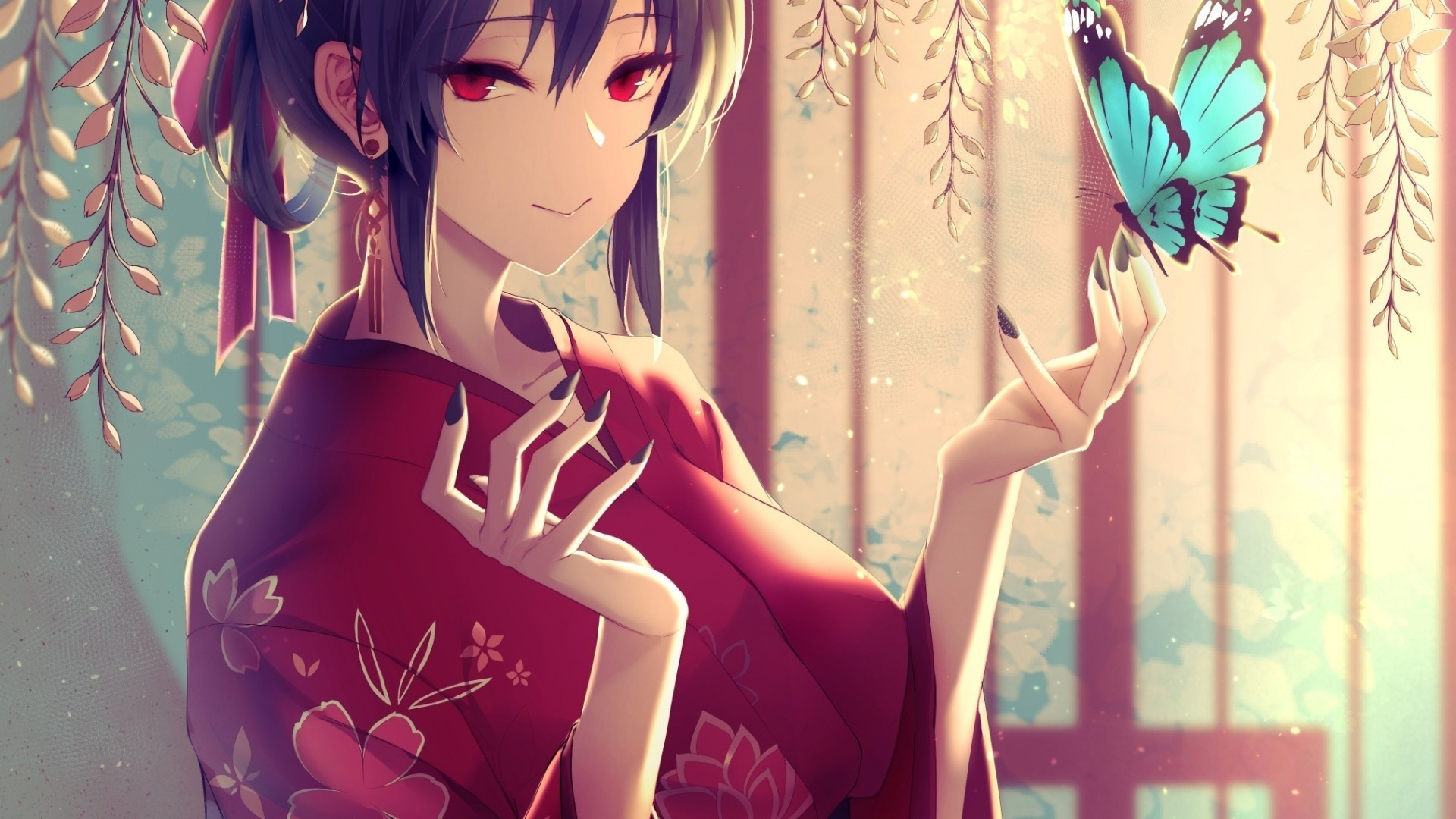 Anime Girl Short Hair Free Wallpaper and Background