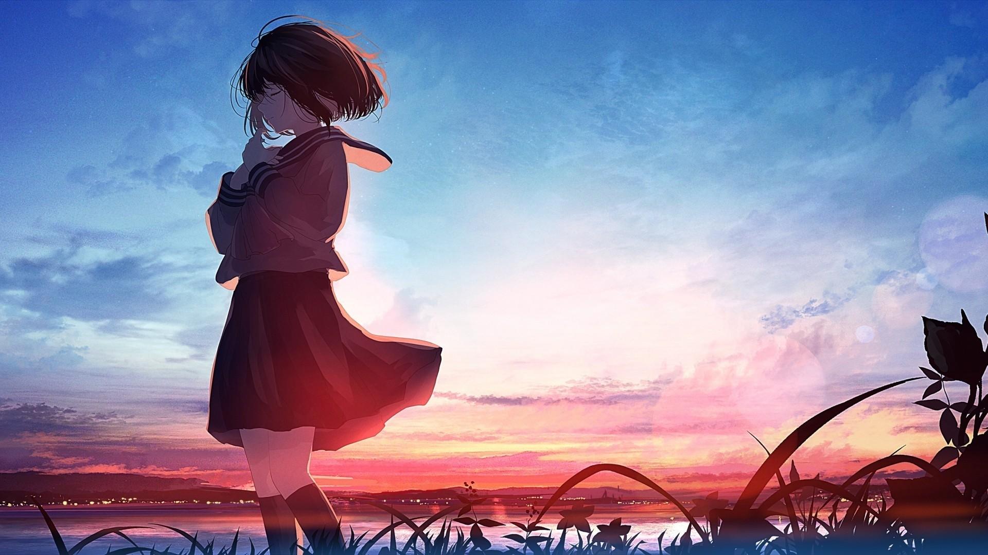 Anime Girl Short Hair Pic