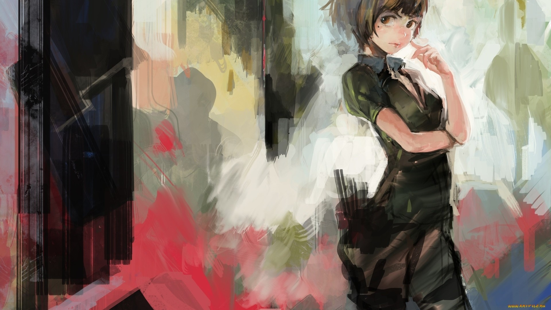 Anime Girl Short Hair PC Wallpaper