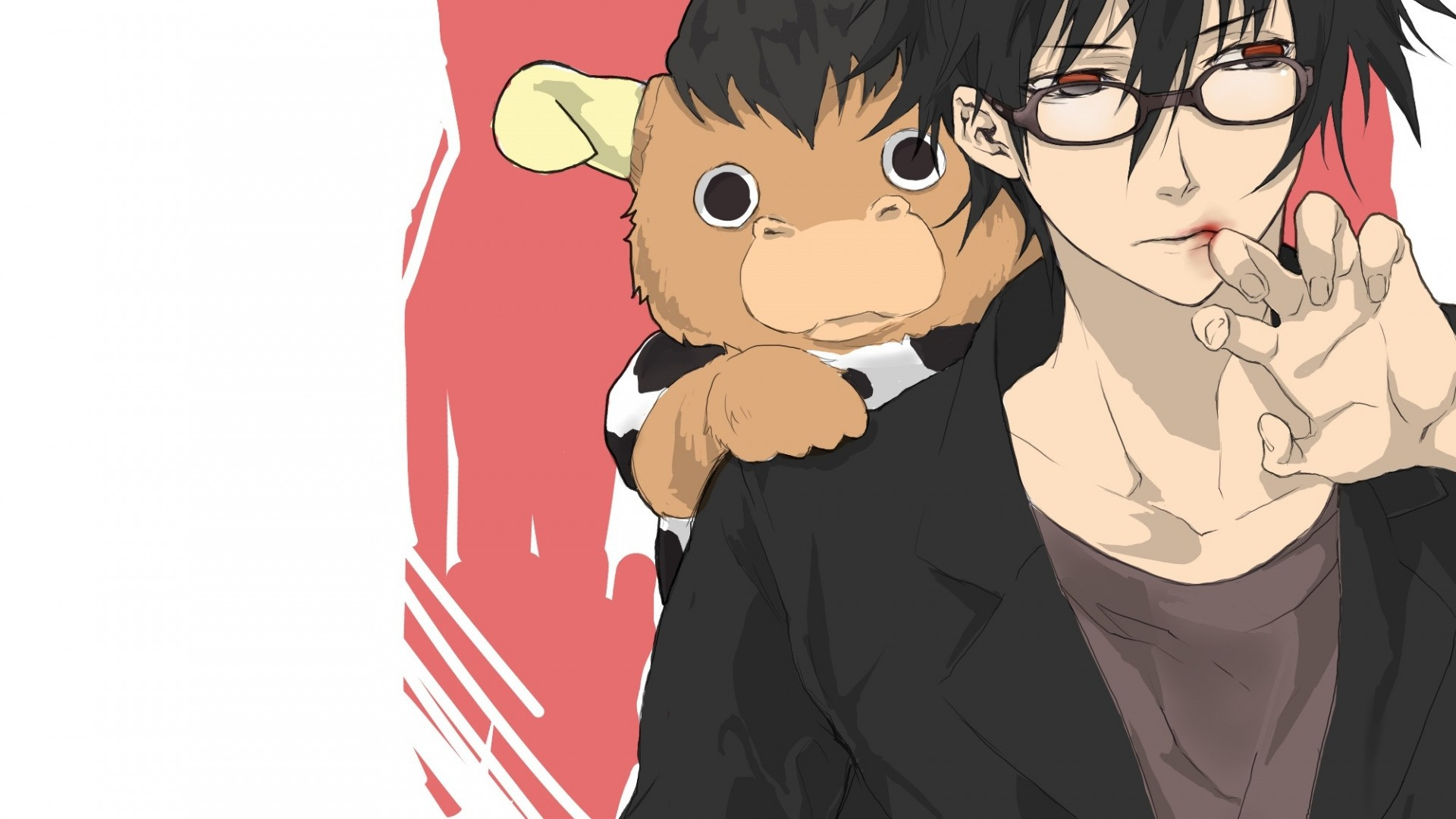 Anime Guy With Glasses Wallpaper for pc