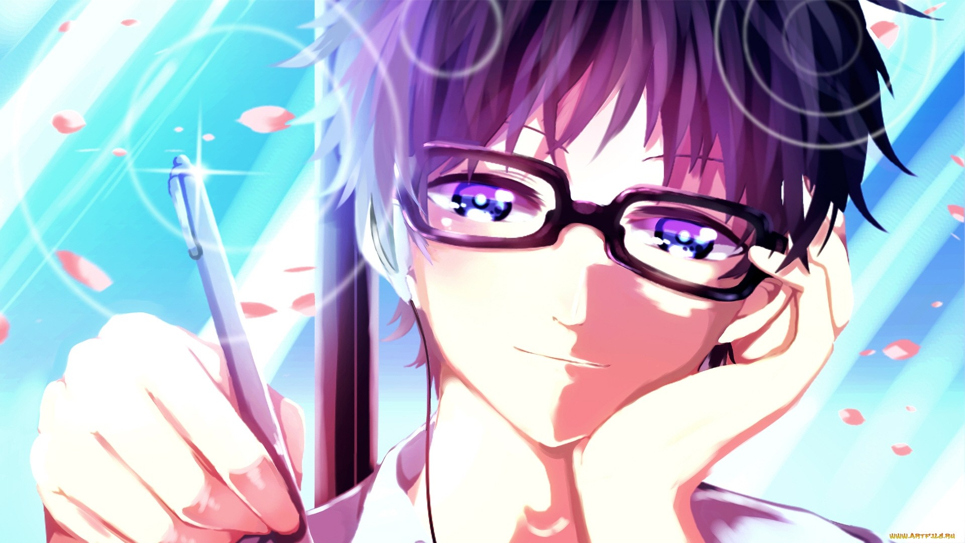 Anime Guy With Glasses Image