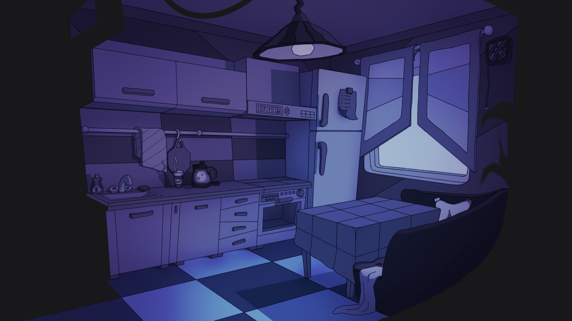 Anime Kitchen Desktop Wallpaper