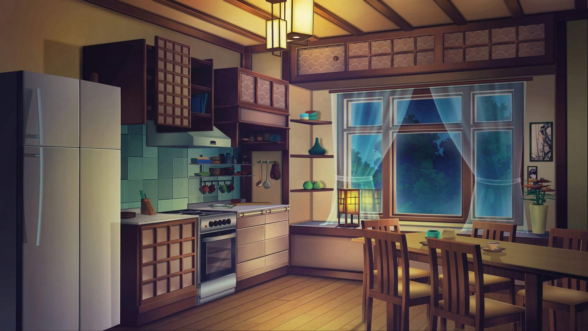 Anime Kitchen computer wallpaper