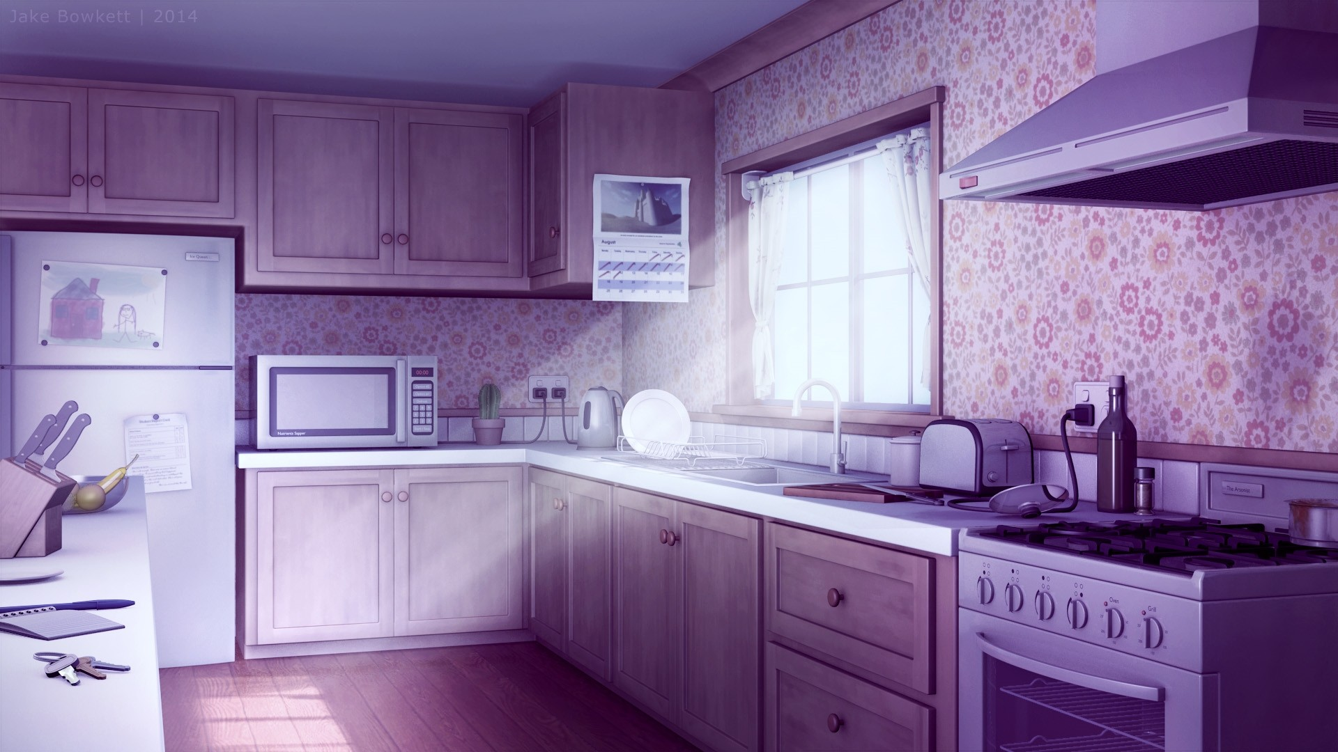 Anime Kitchen Background