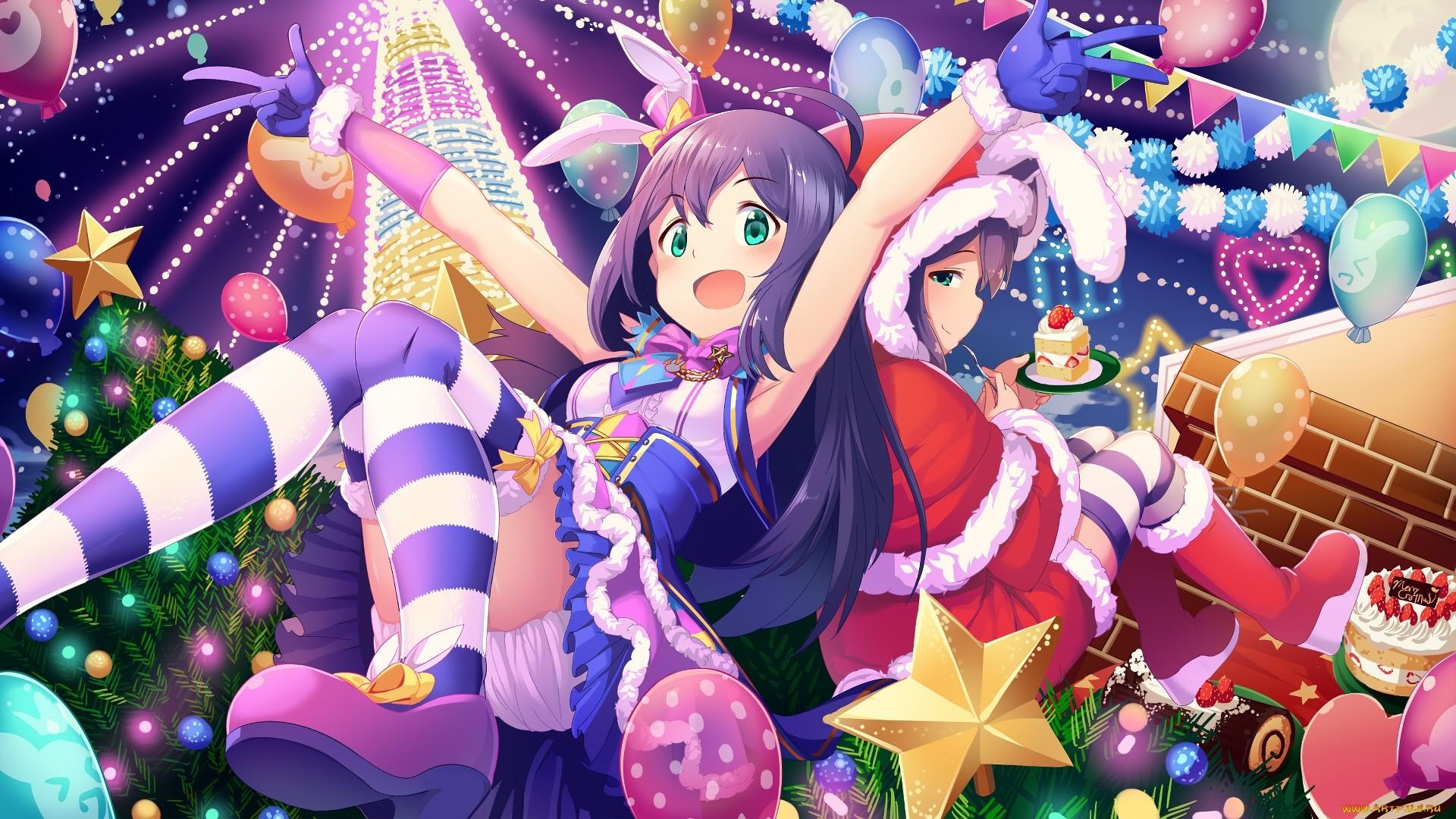 Christmas Anime Girl Wallpaper image hd
