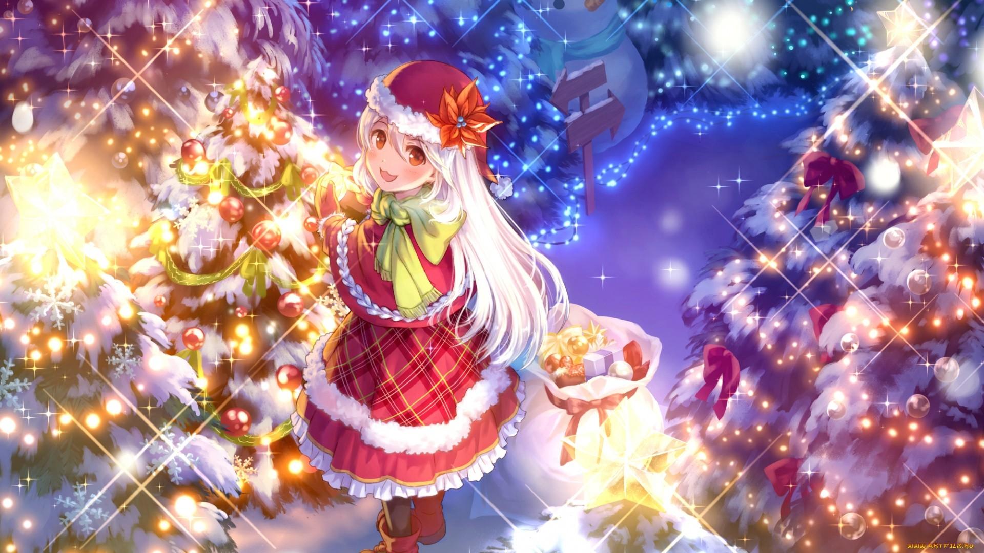 Christmas Anime Girl Download Wallpaper