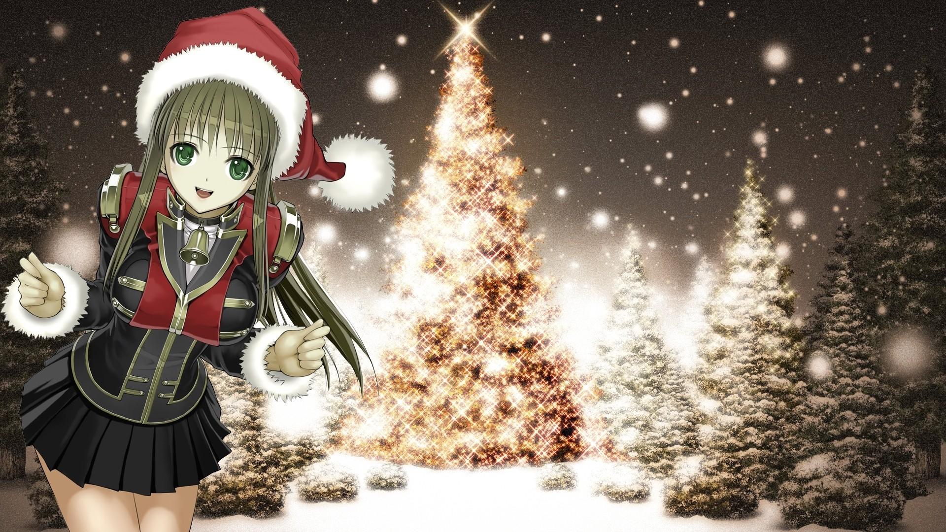 Christmas Anime Girl HD Download