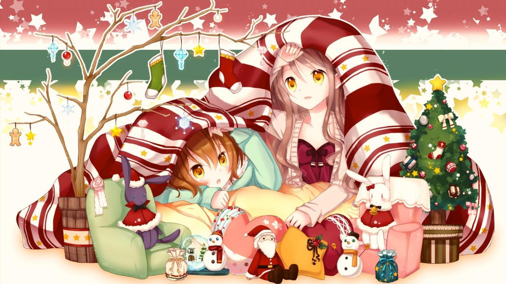 Christmas Anime Girl Image