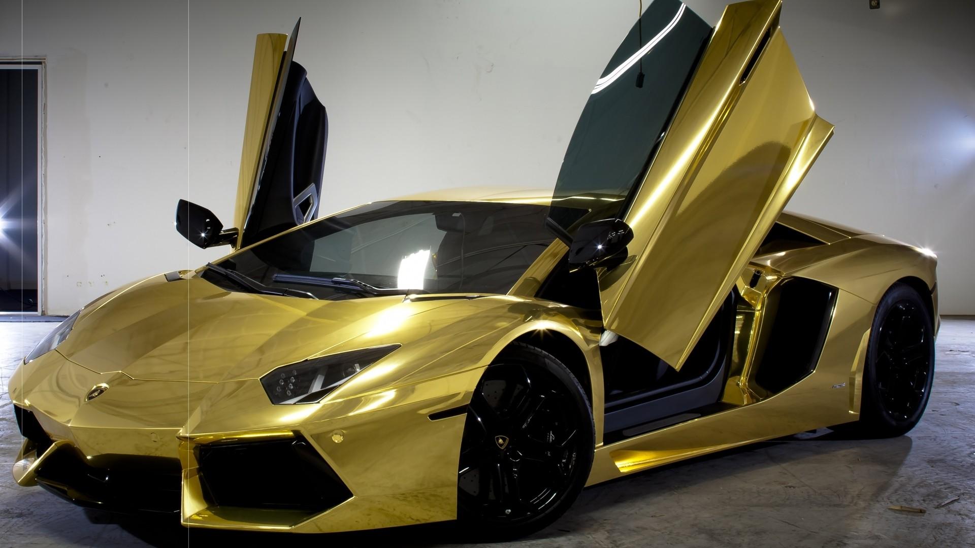 Gold Lamborghini Wallpaper and Background