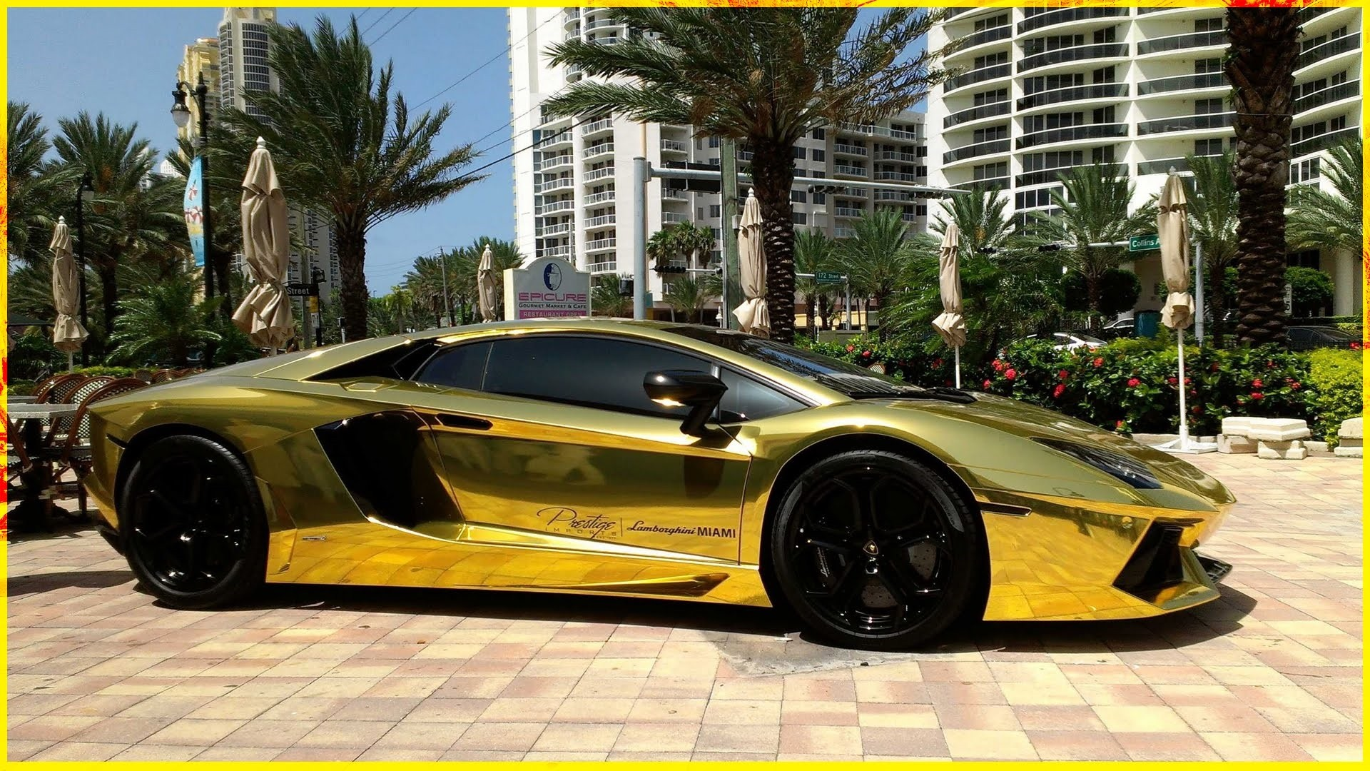 Gold Lamborghini wallpaper