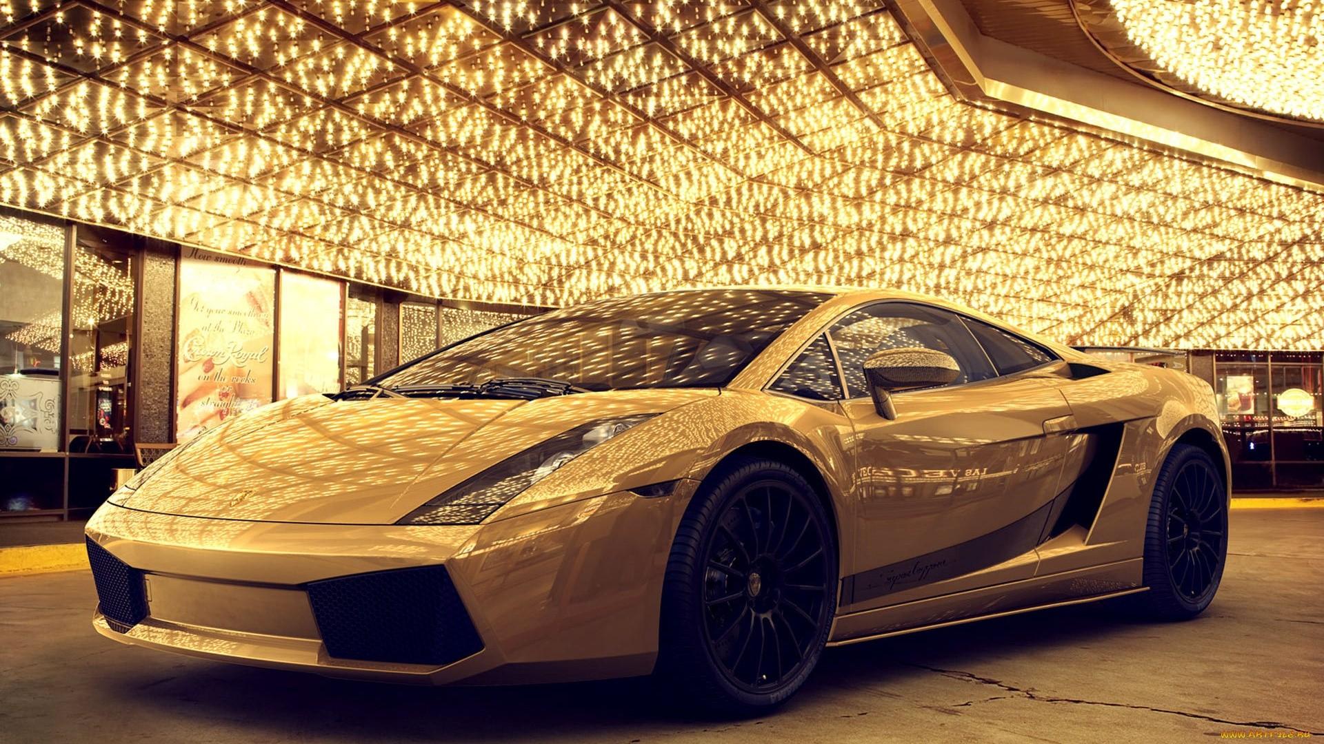 Gold Lamborghini Picture