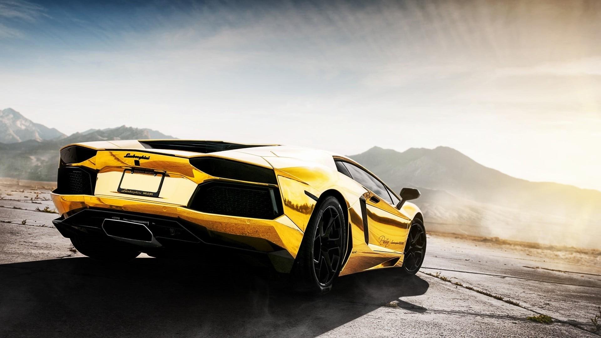 Gold Lamborghini PC Wallpaper