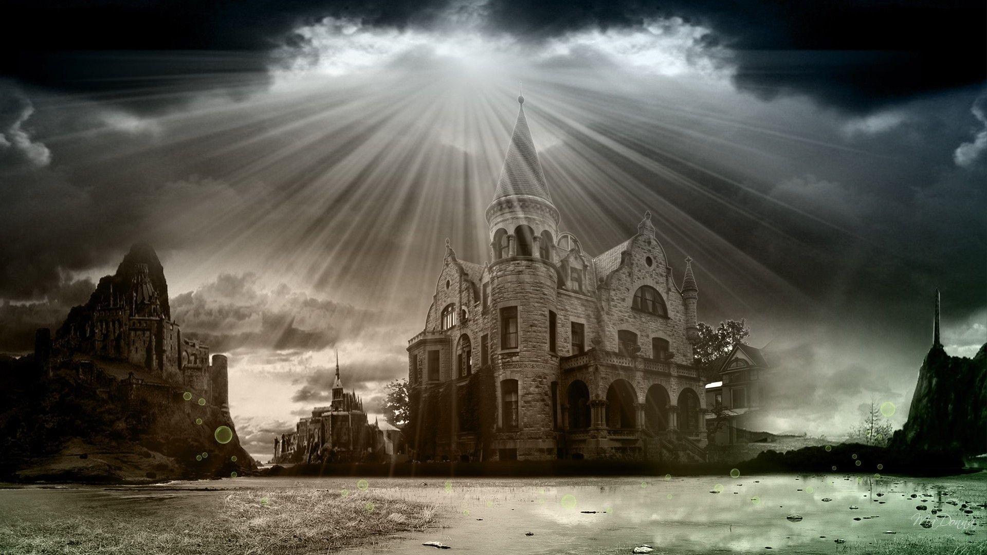 Gothic Castle Wallpaper for pc