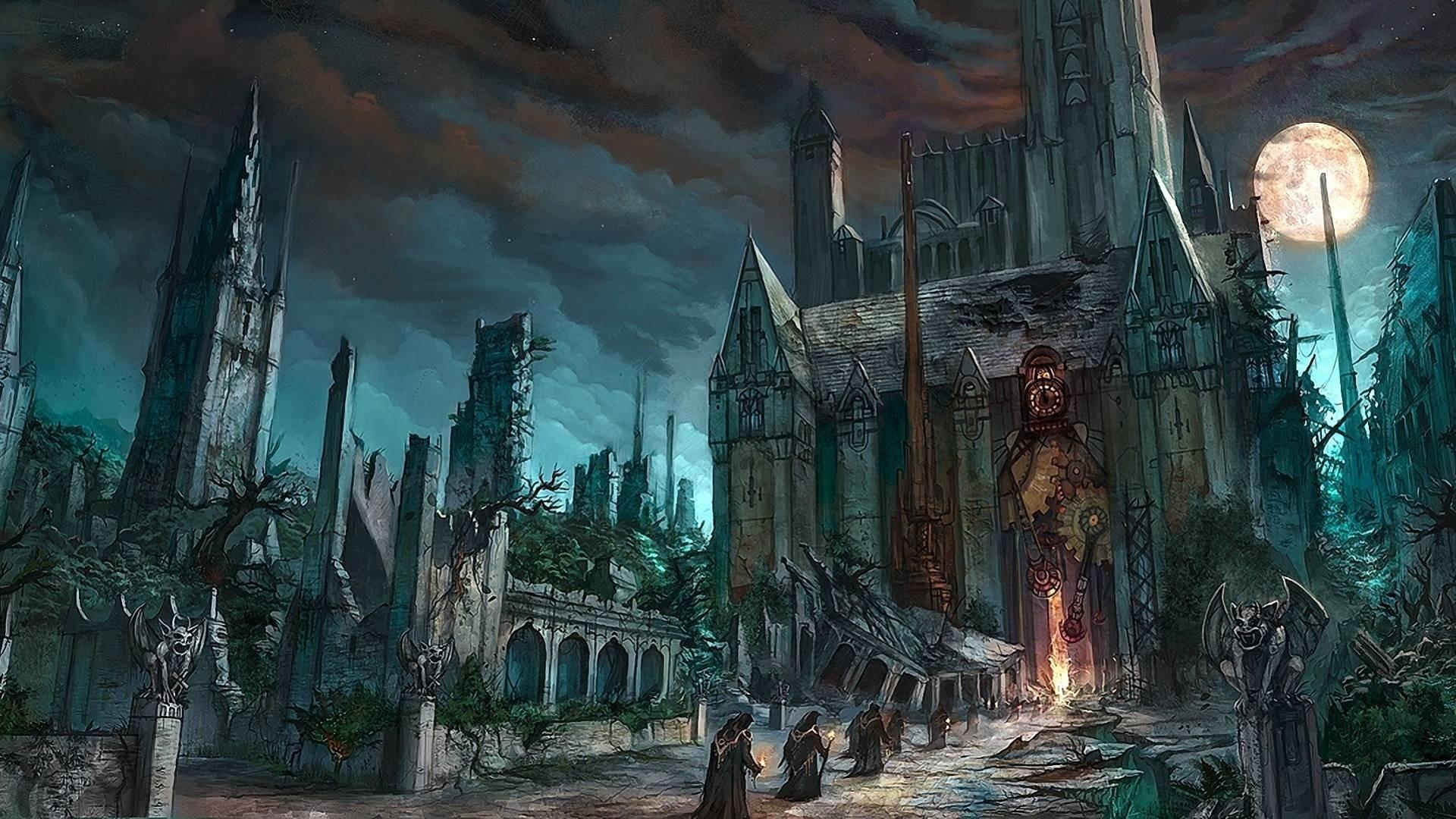 Gothic Castle hd wallpaper download