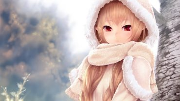 Hoodie Cute Anime Girl hd wallpaper download