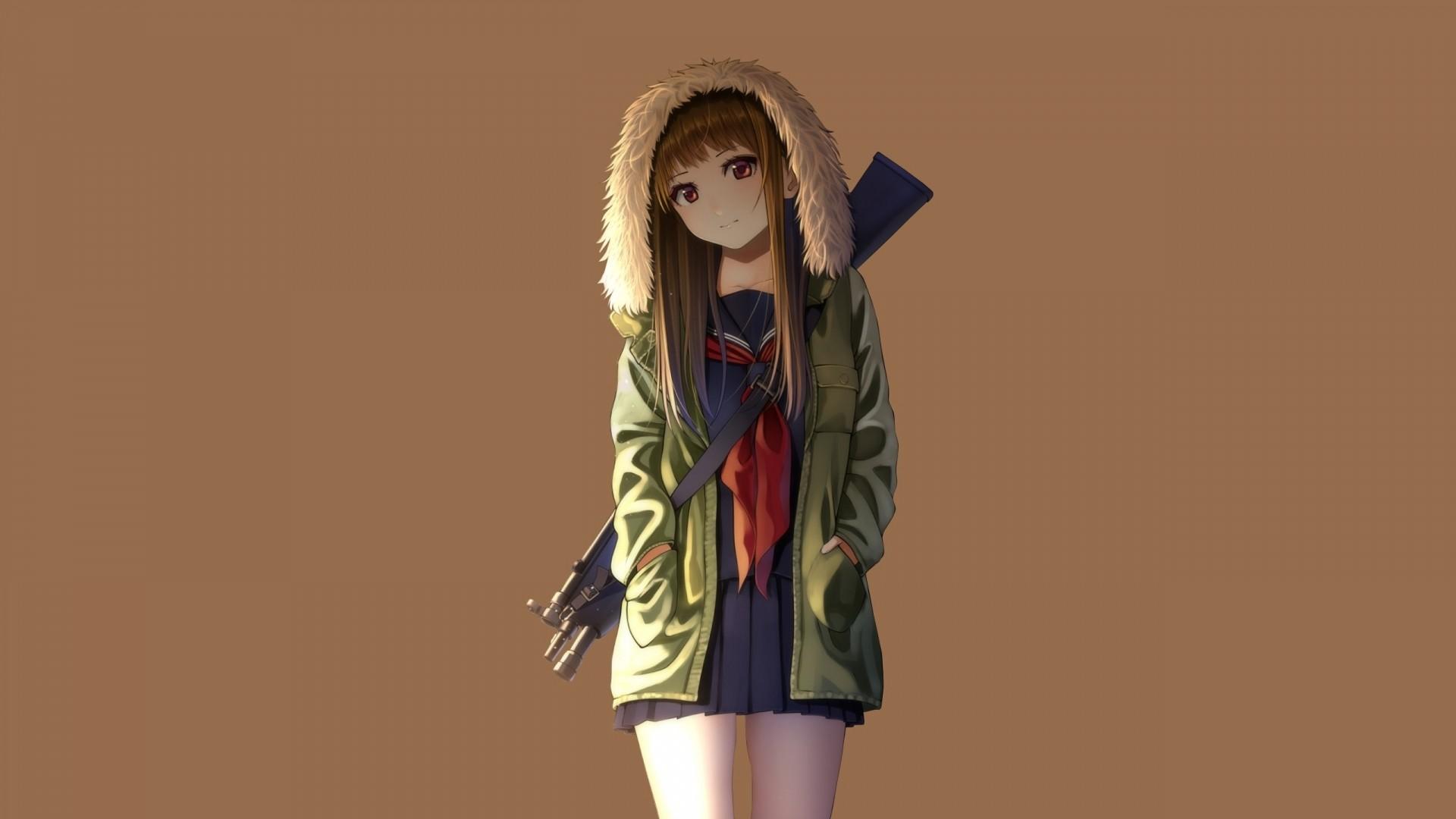 Hoodie Cute Anime Girl Image