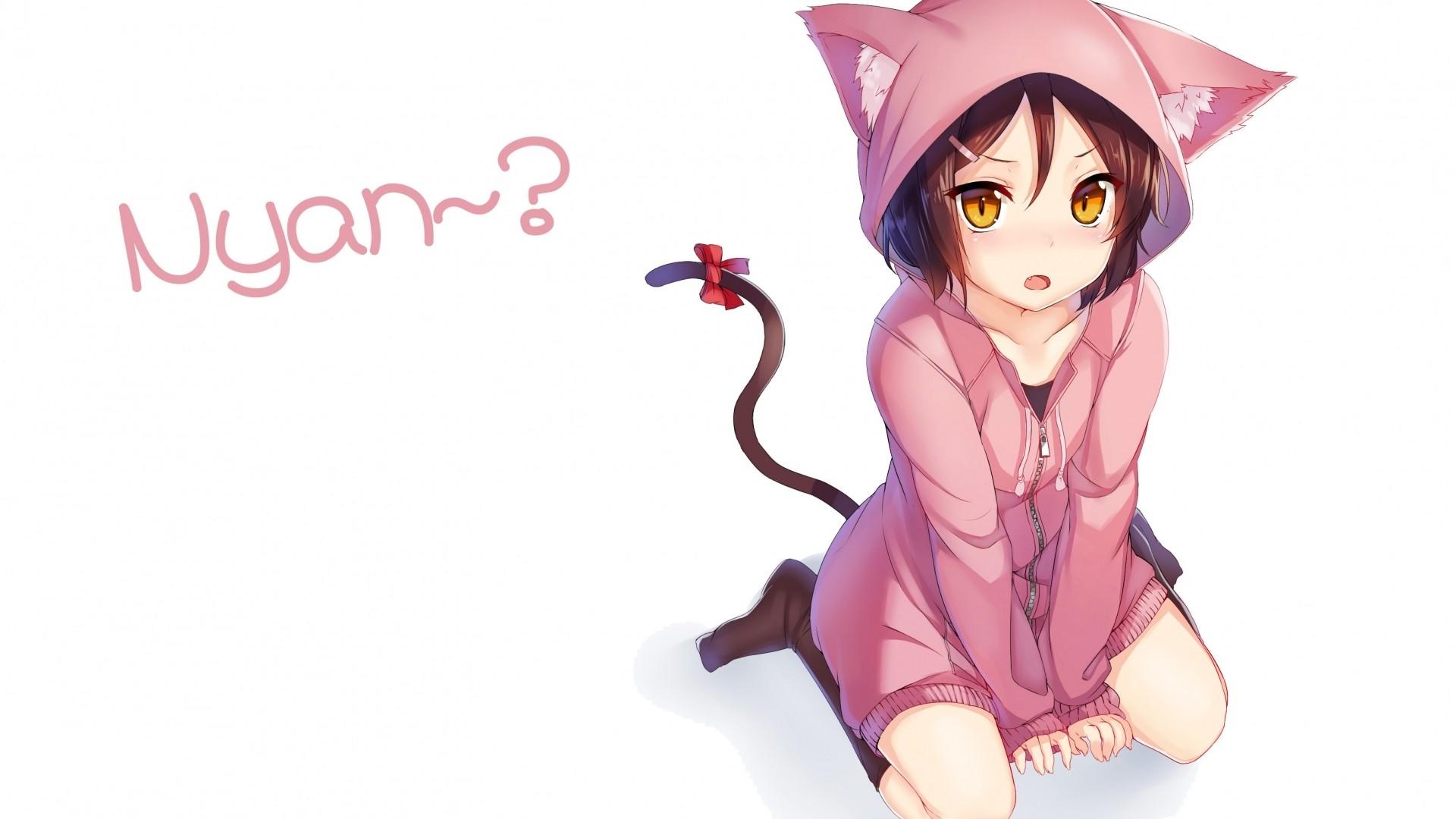 Hoodie Cute Anime Girl Desktop Wallpaper