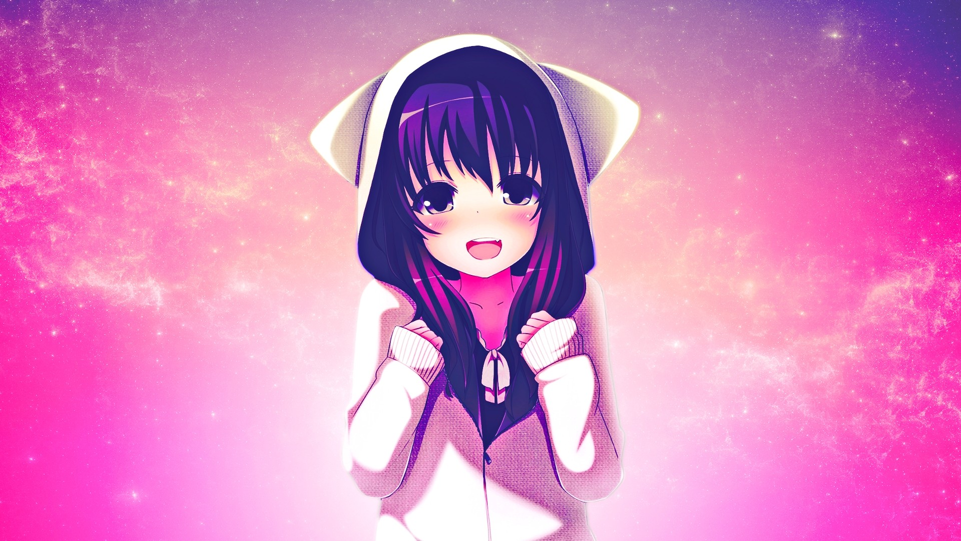 Hoodie Cute Anime Girl Picture