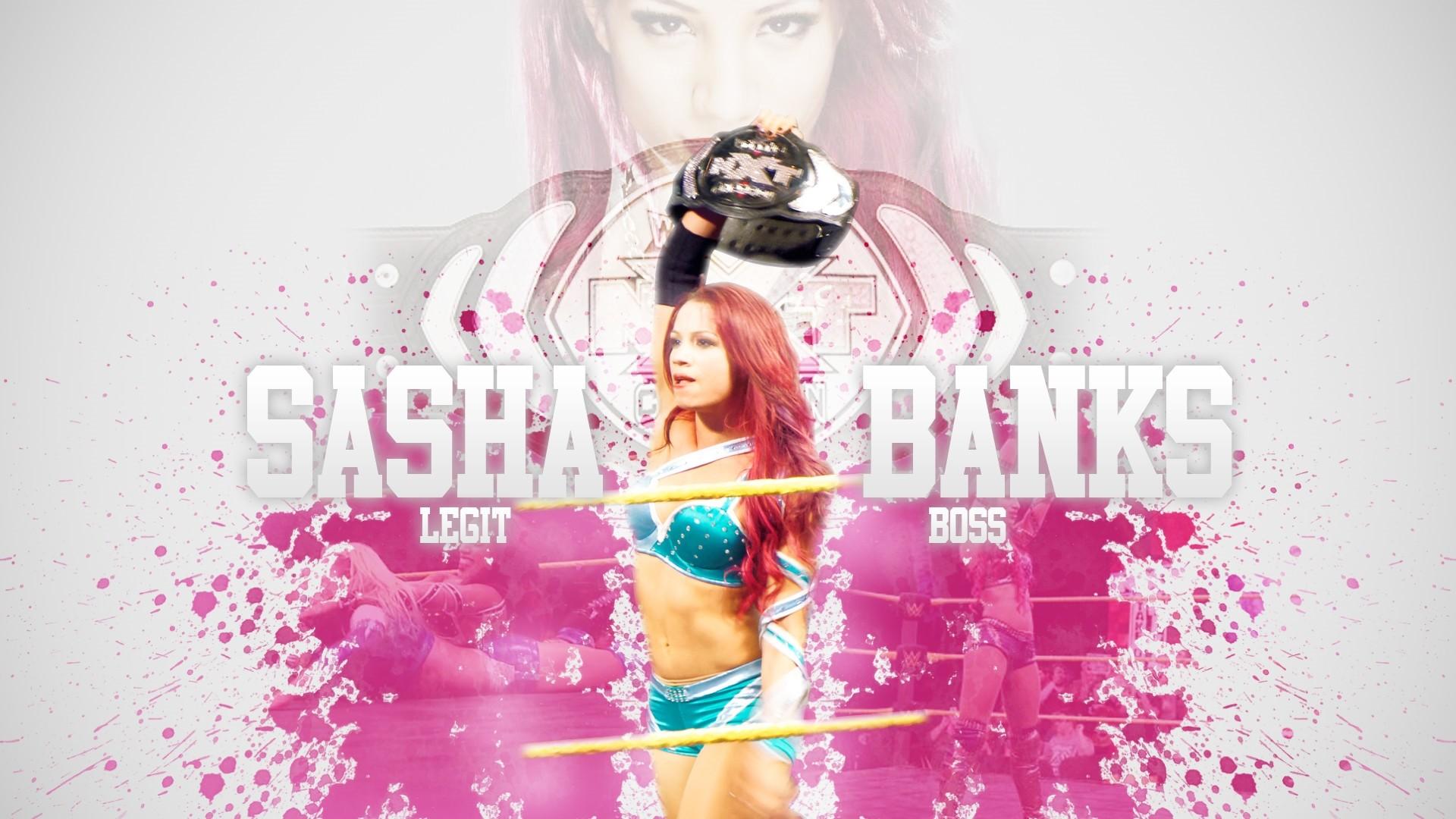 Sasha Banks Background Wallpaper