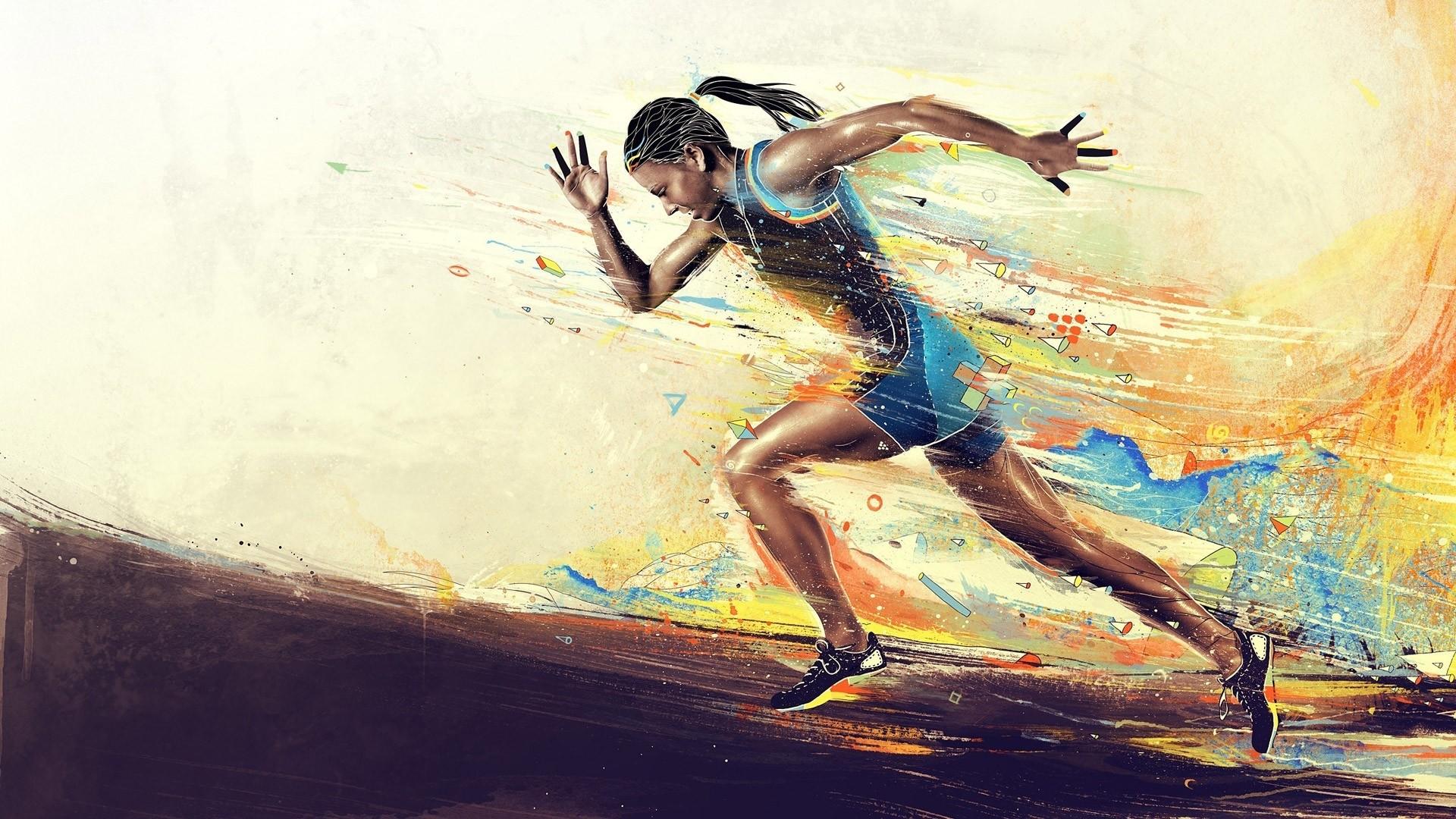 Running Desktop wallpaper