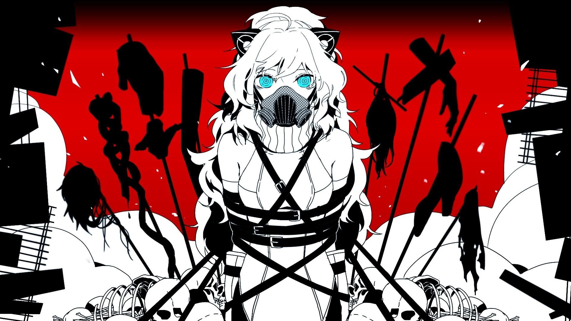 Anime Girl With Gas Mask HD Wallpaper