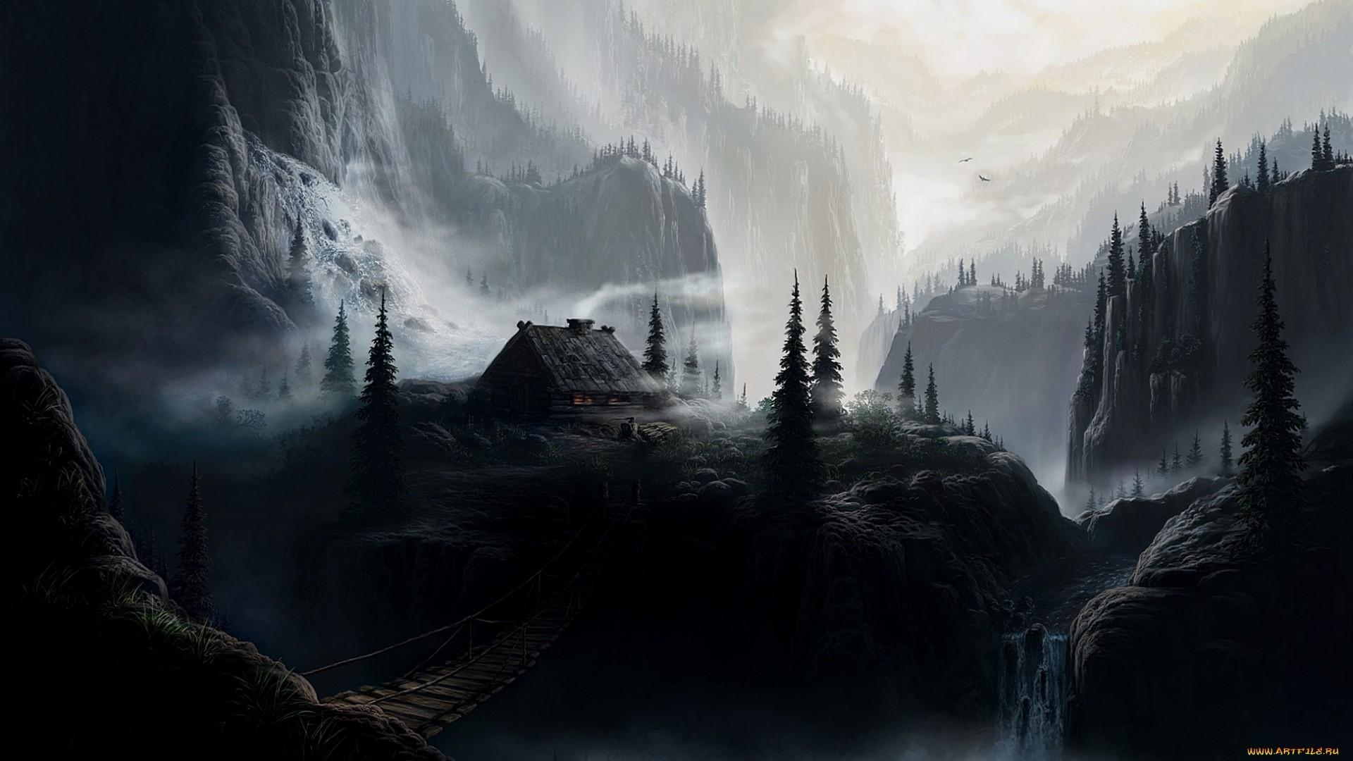 Dark Mountain Background