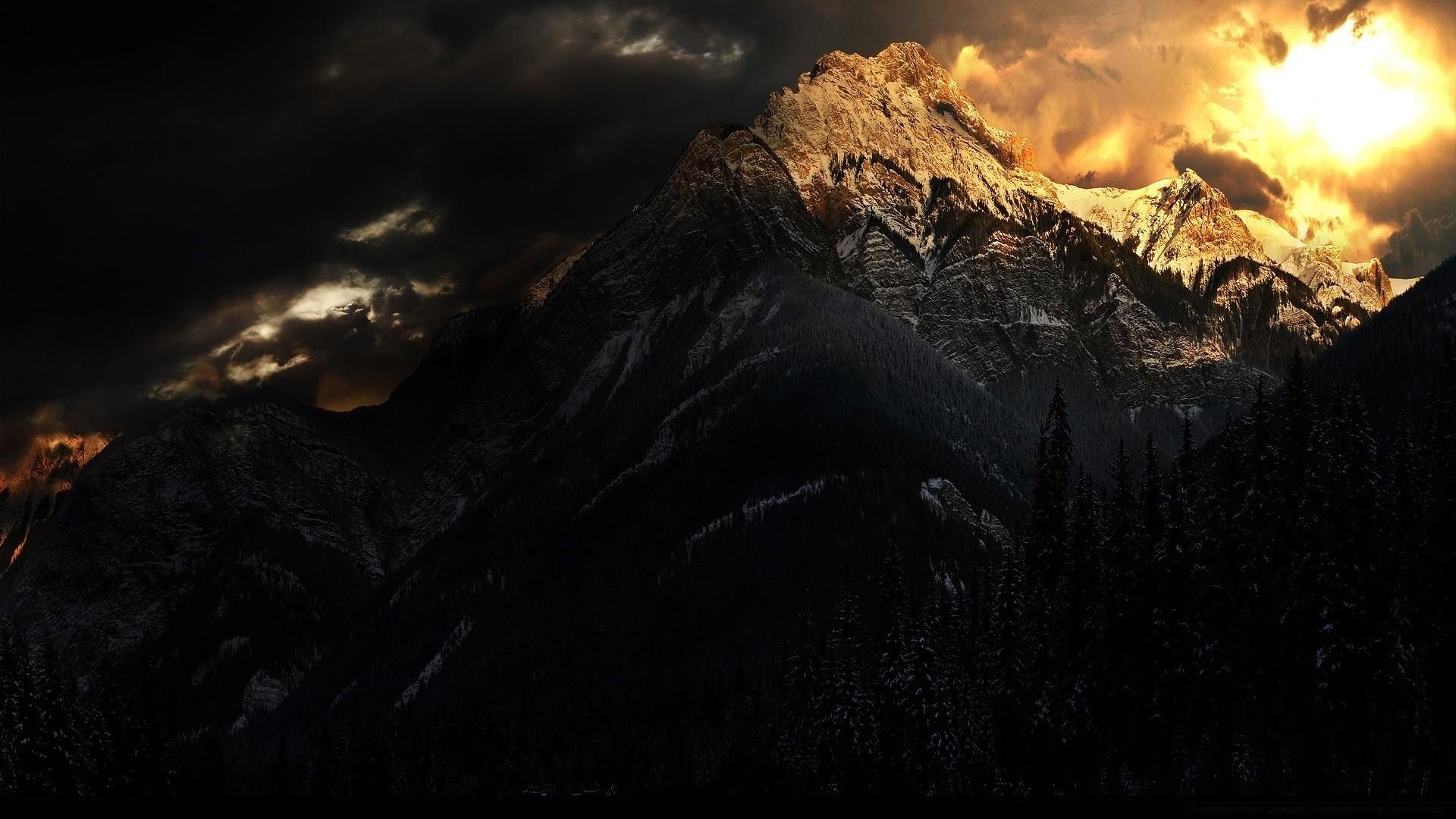 Dark Mountain HD Wallpaper