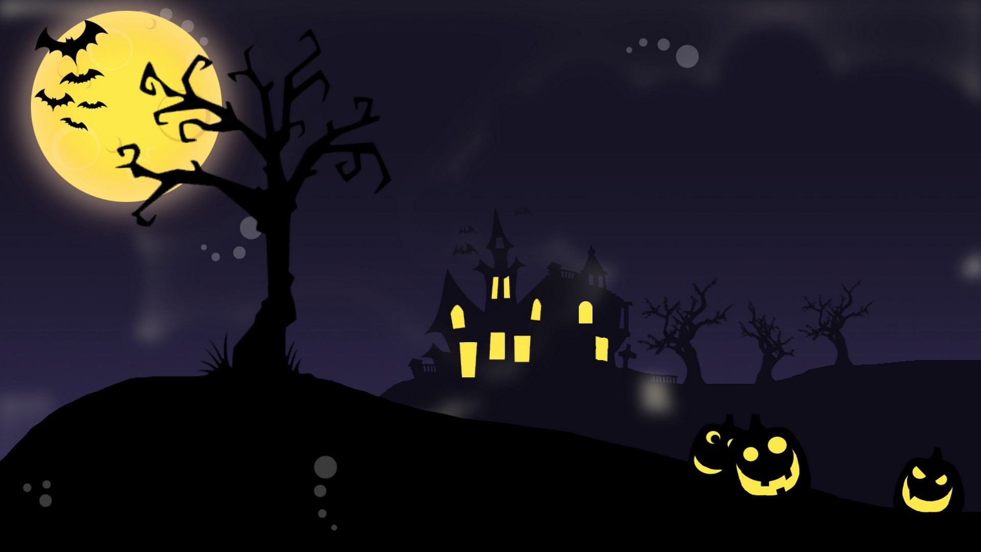 Spooky Vector Wallpaper
