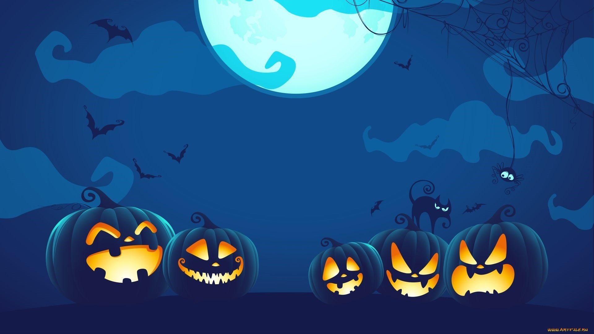 Spooky Vector Wallpaper and Background
