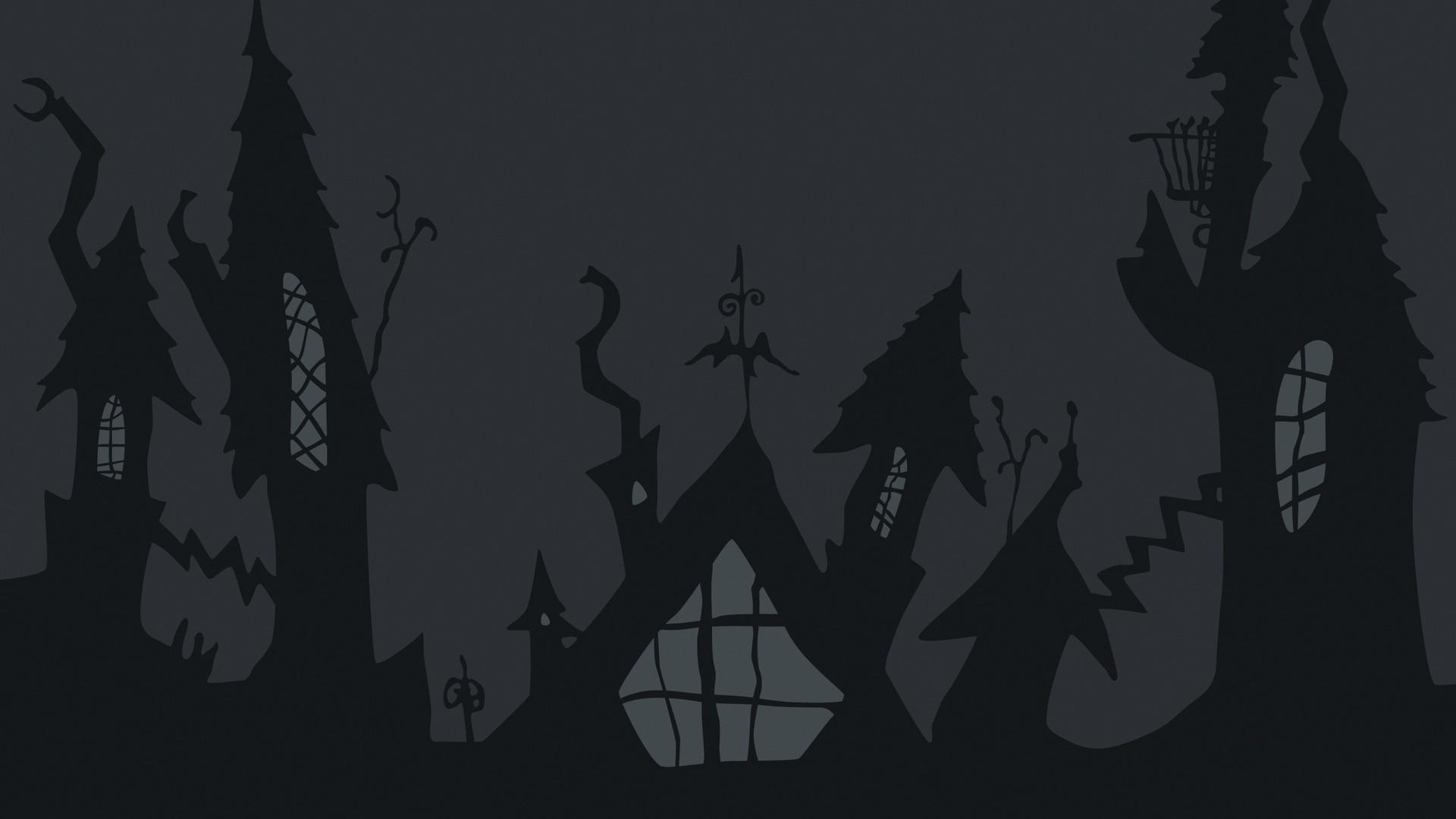 Spooky Vector Desktop Wallpaper