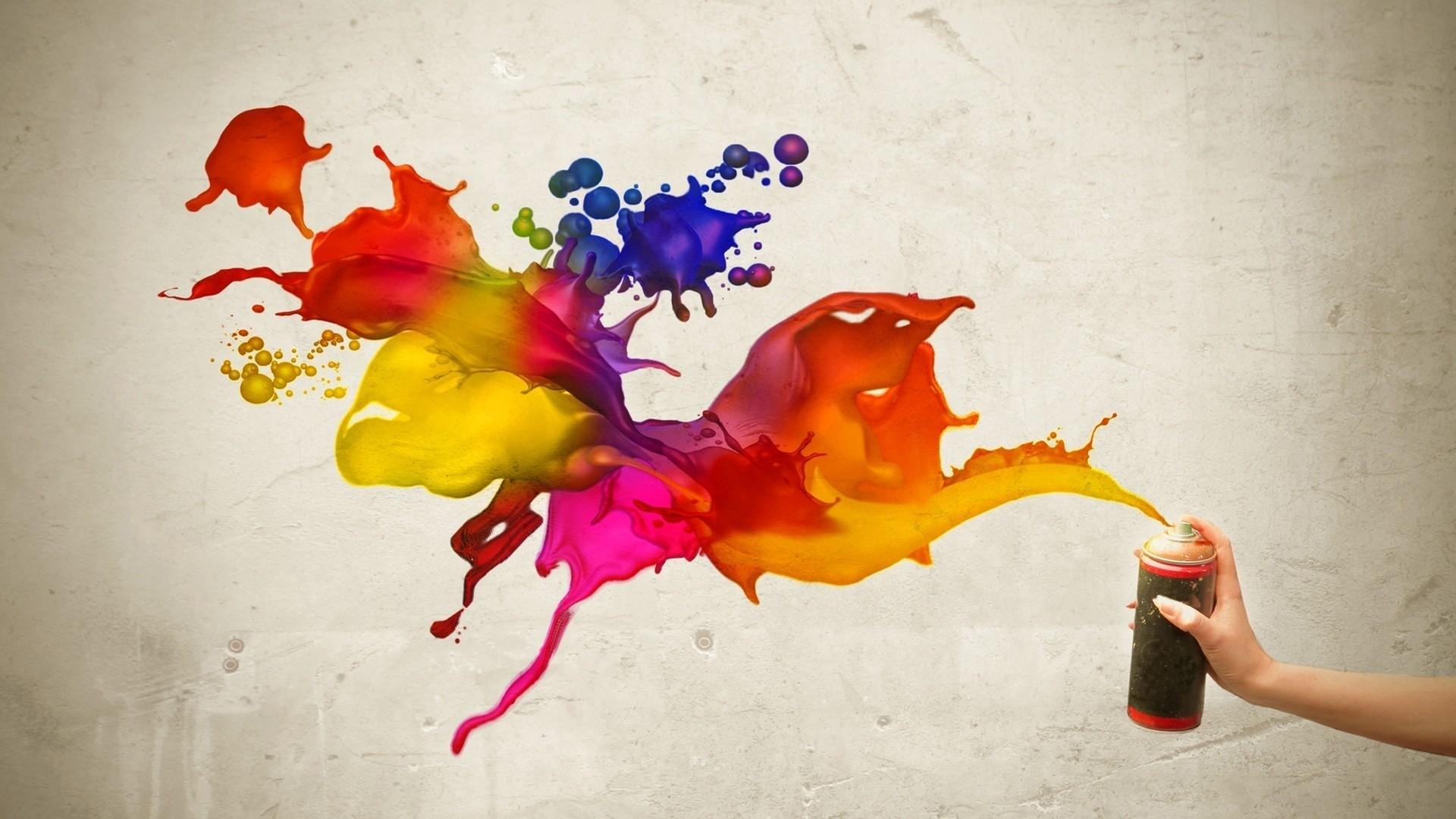 Paint Splash HD Wallpaper