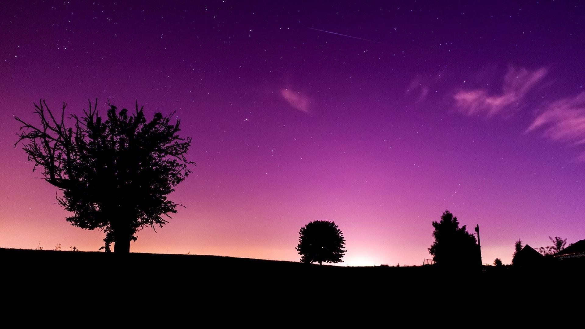 Purple Sky HD Wallpaper