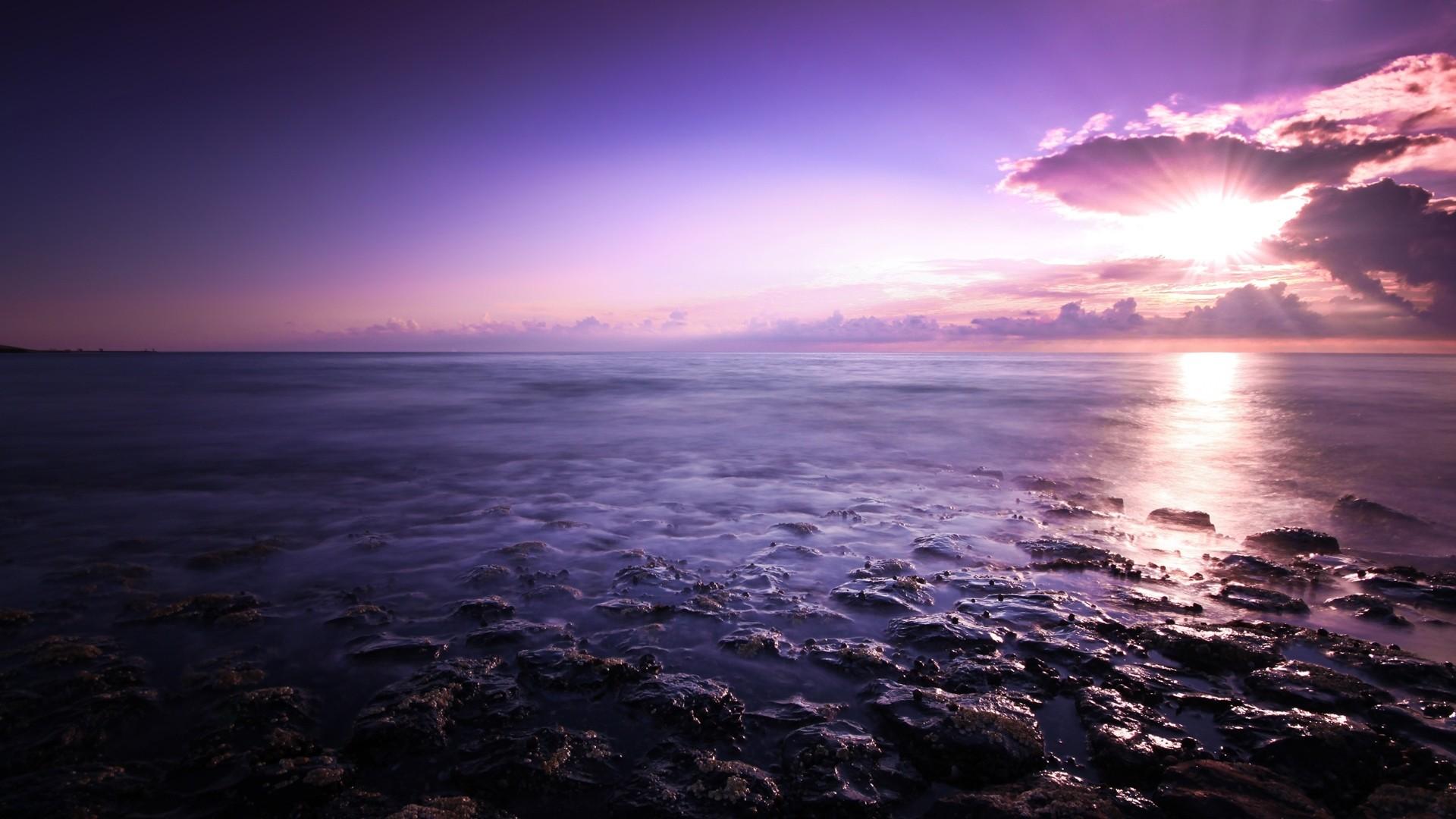 Purple Sky Full HD Wallpaper