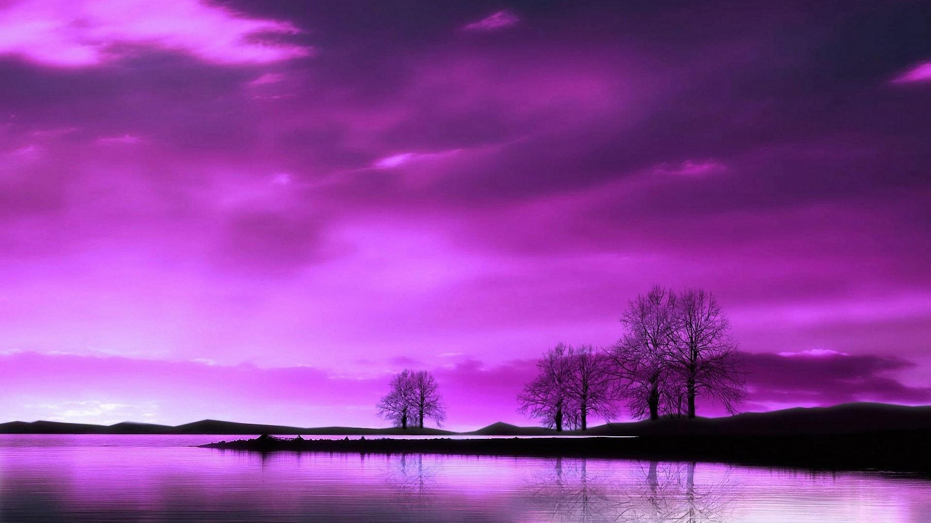 Purple Sky PC Wallpaper HD