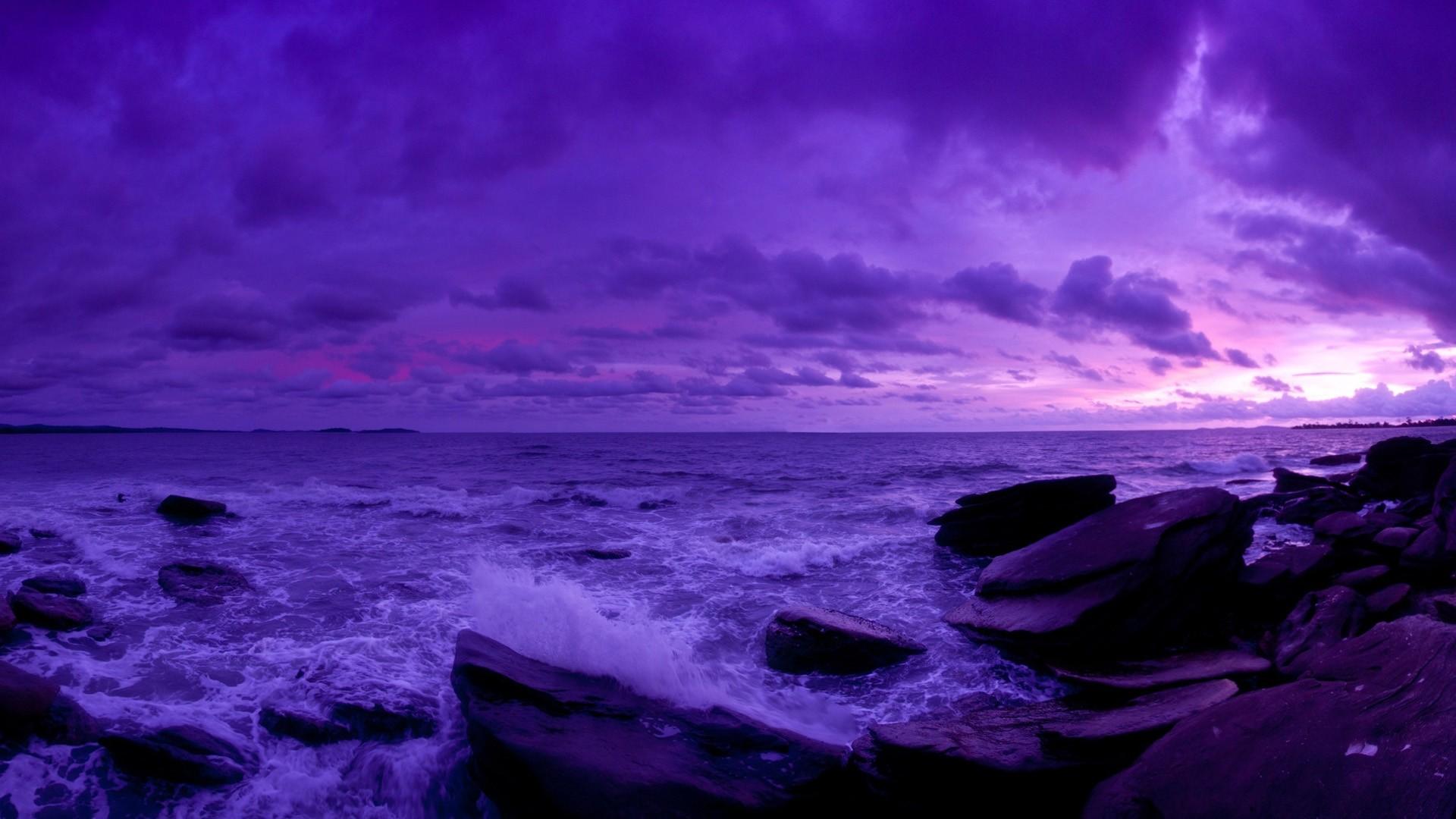 Purple Sky Wallpaper for pc