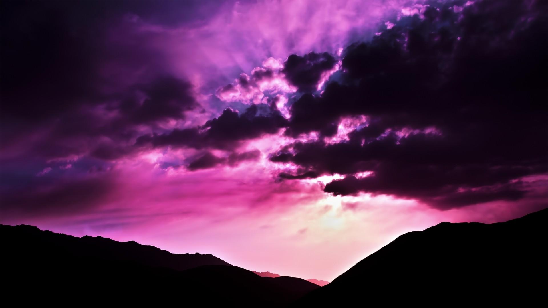 Purple Sky Desktop wallpaper